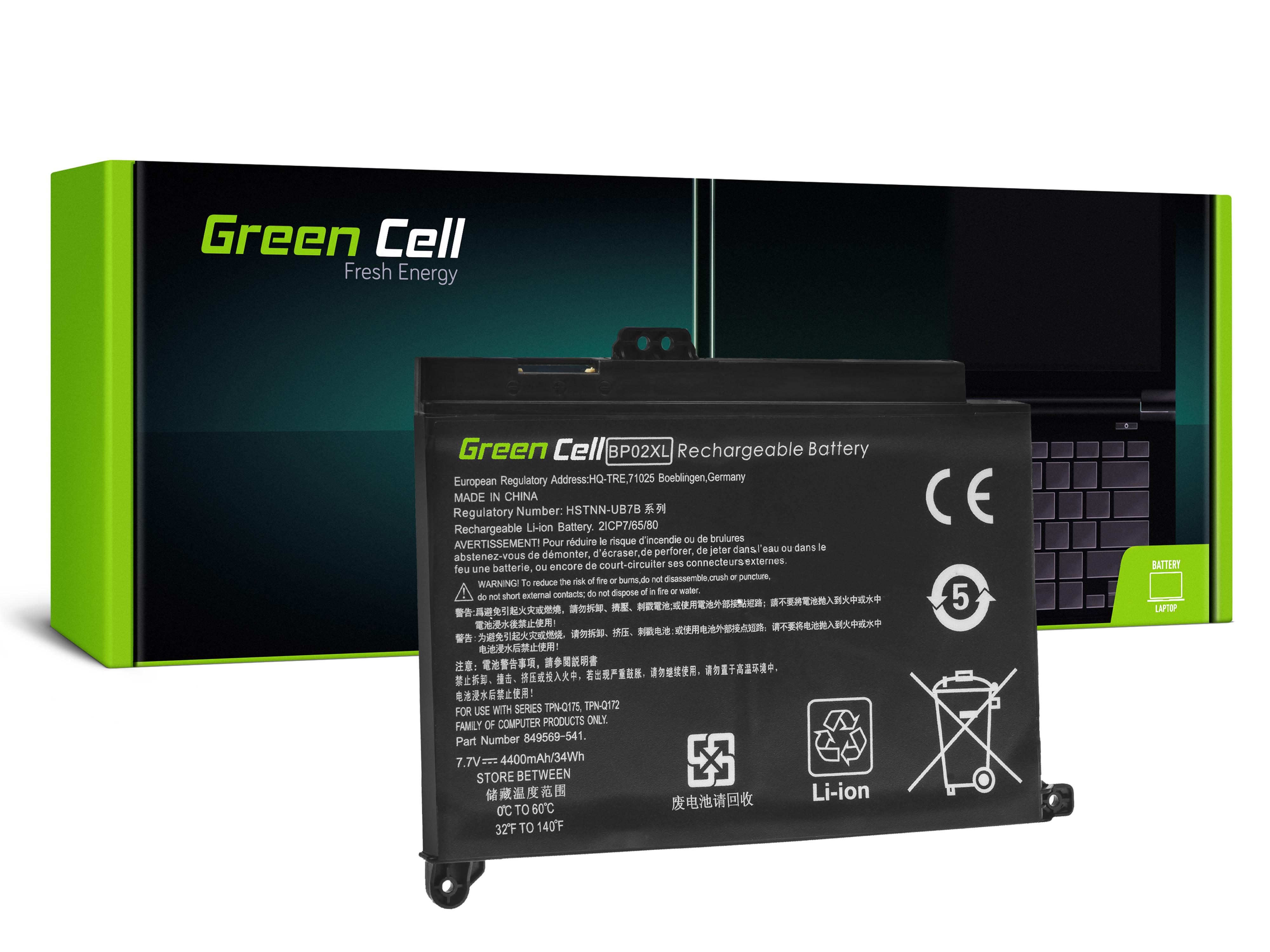 Batteri BP02XL do HP Pavilion 15-AU 15-AU051NW 15-AU071NW 15-AU102NW 15-AU107NW 15-AW 15-AW010NW
