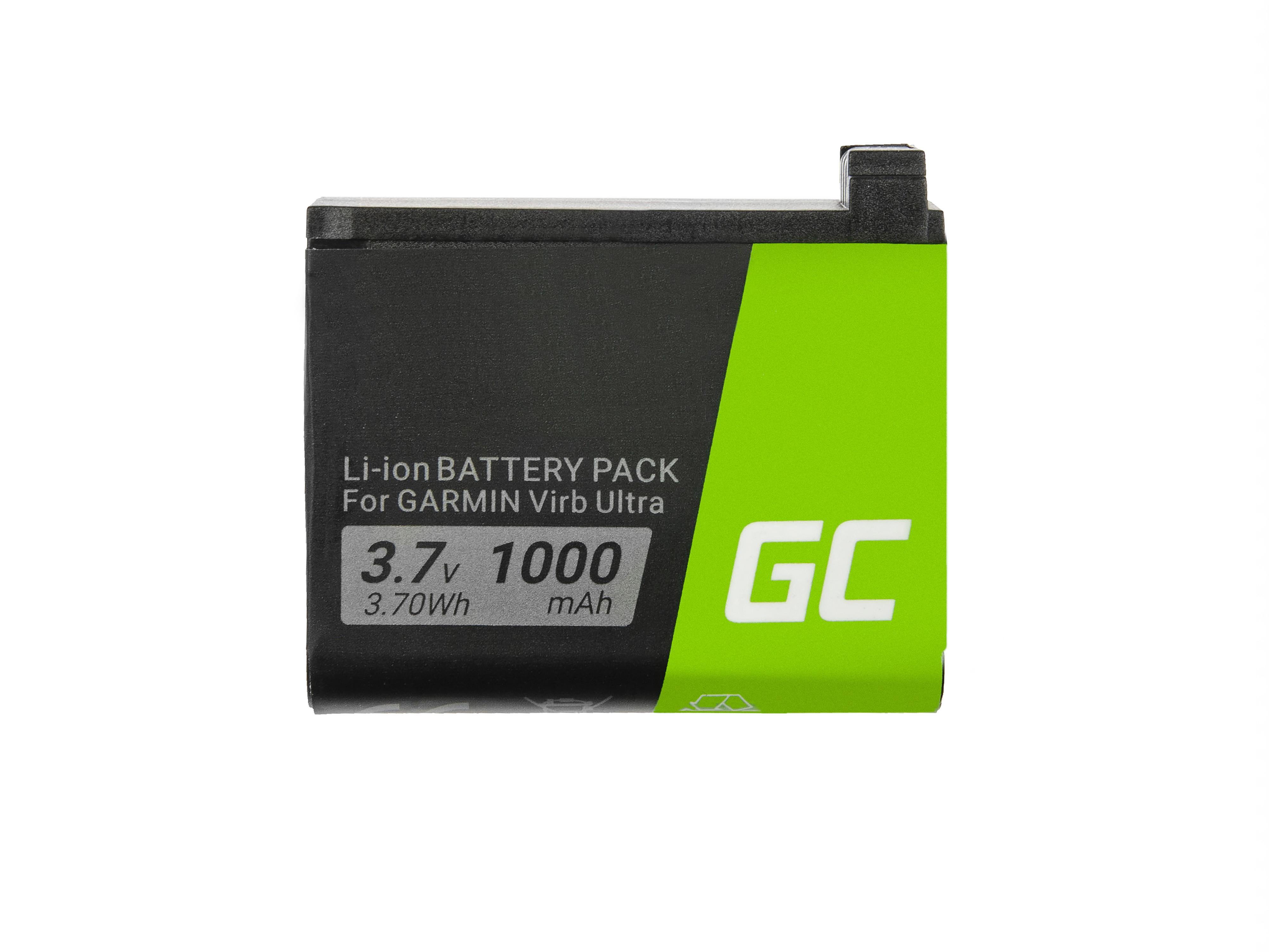 Batteri Green Cell361-00087-00 010-12389-15 gör kamery Garmin Virb Ultra 30 3.7V 1000mAh