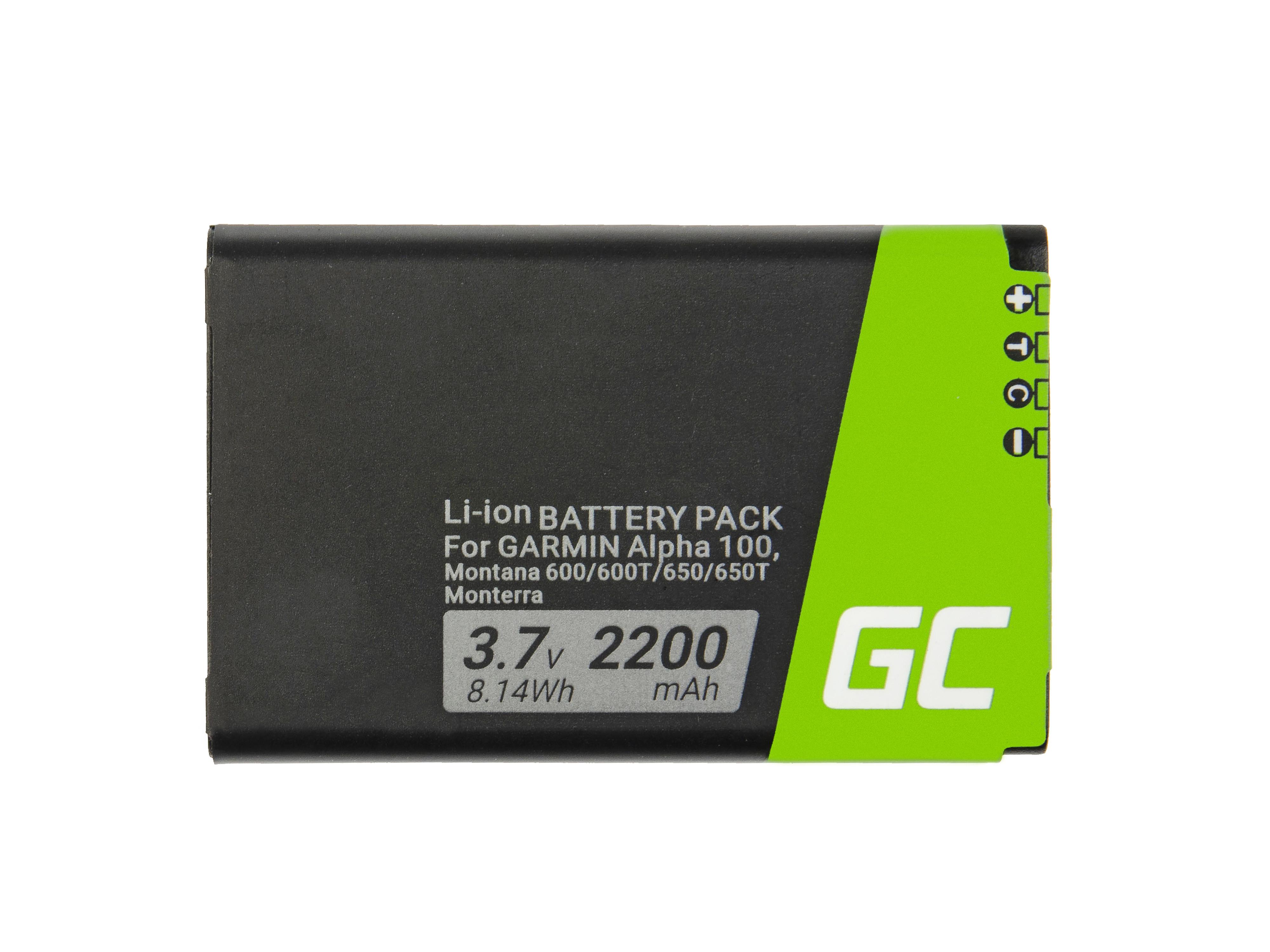 Batteri Green Cell361-00053-00 gör GPS Garmin Alpha 100 Montana 600 610 650 680