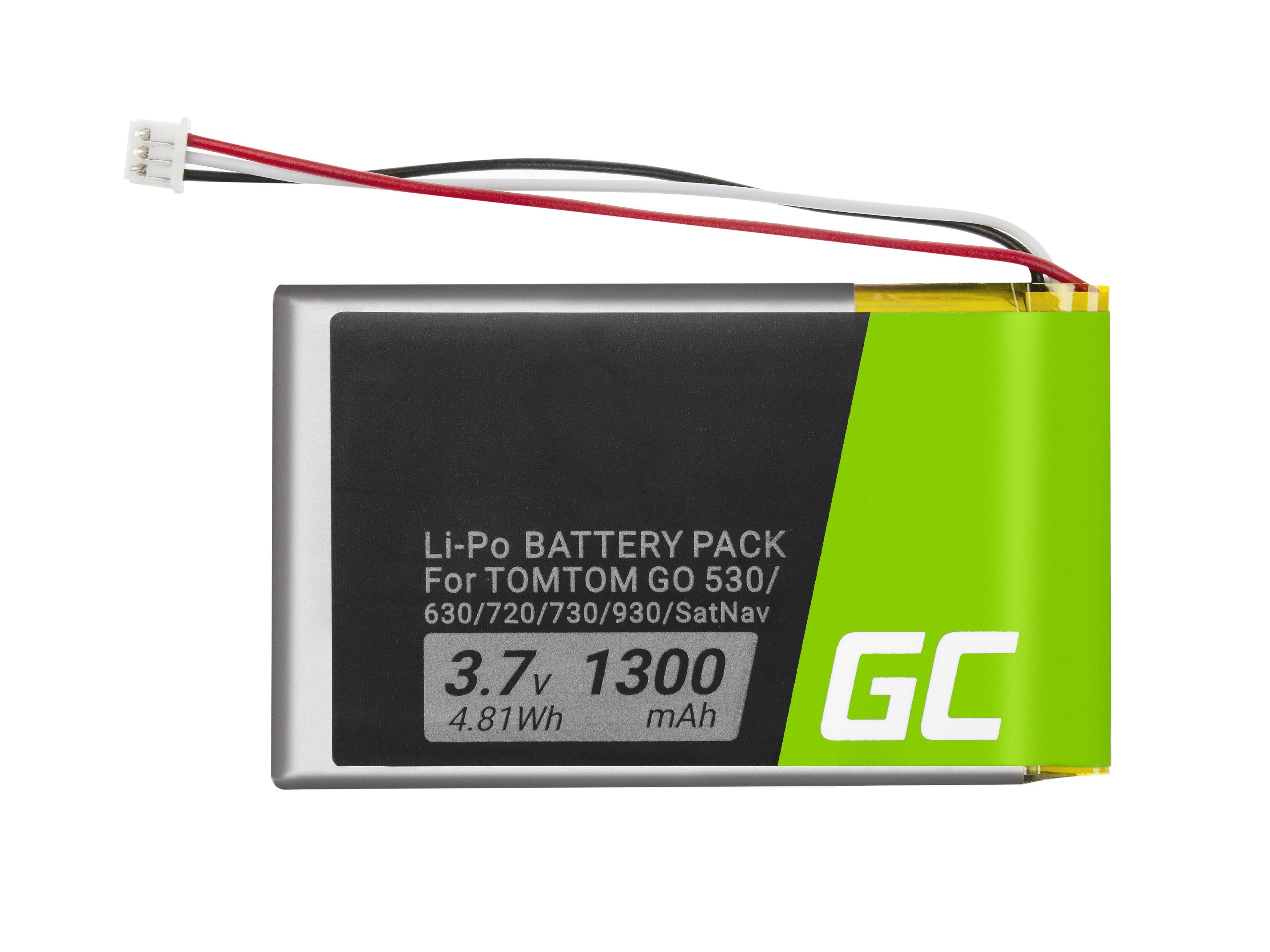 Batteri Green CellVF8 AHL03714000 gör GPS TomTom Go 530 630 720 730 930 X40 X50