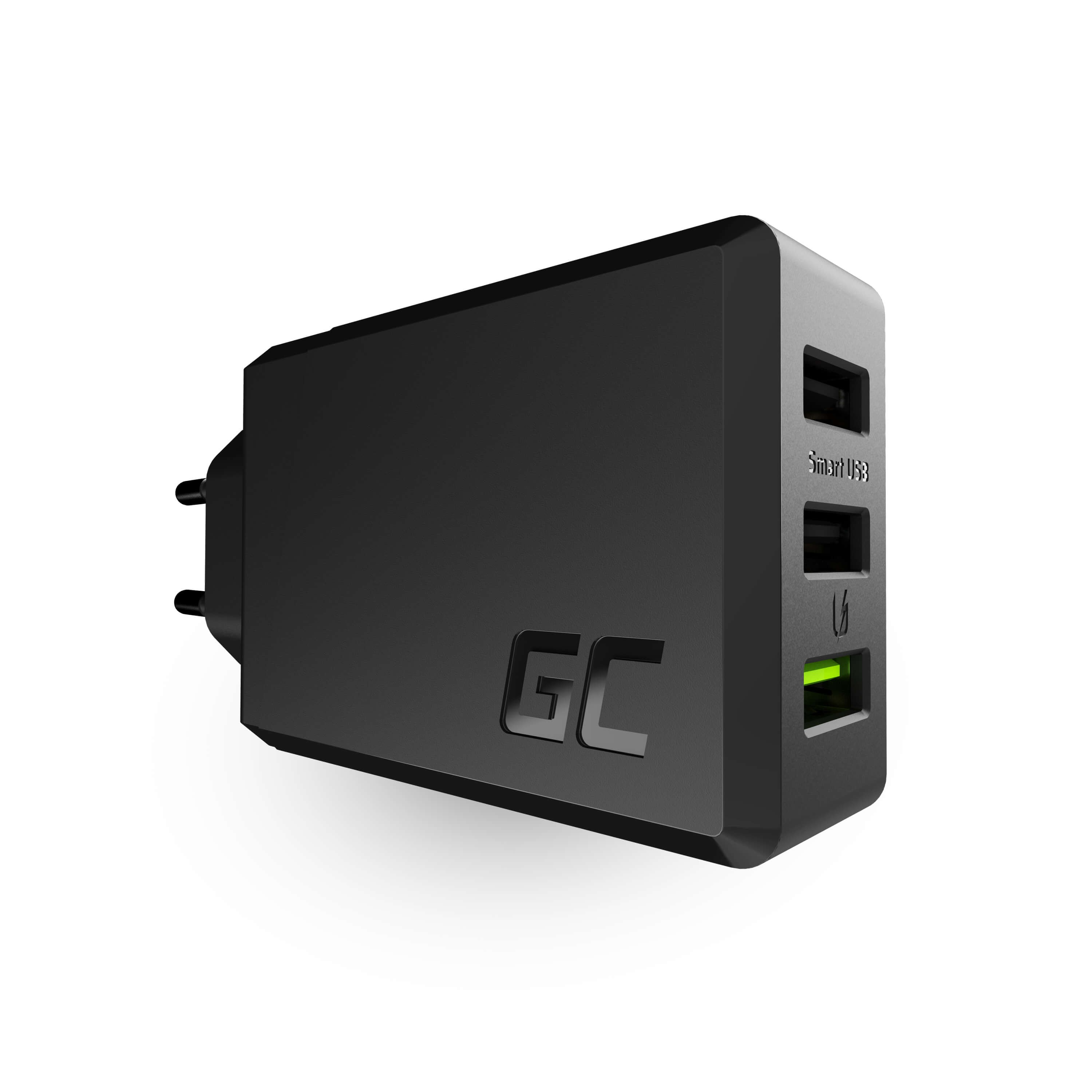 3-portars laddare GC ChargeSource3 3xUSB 30W med snabbladdning UltraCharging i Smart Charge