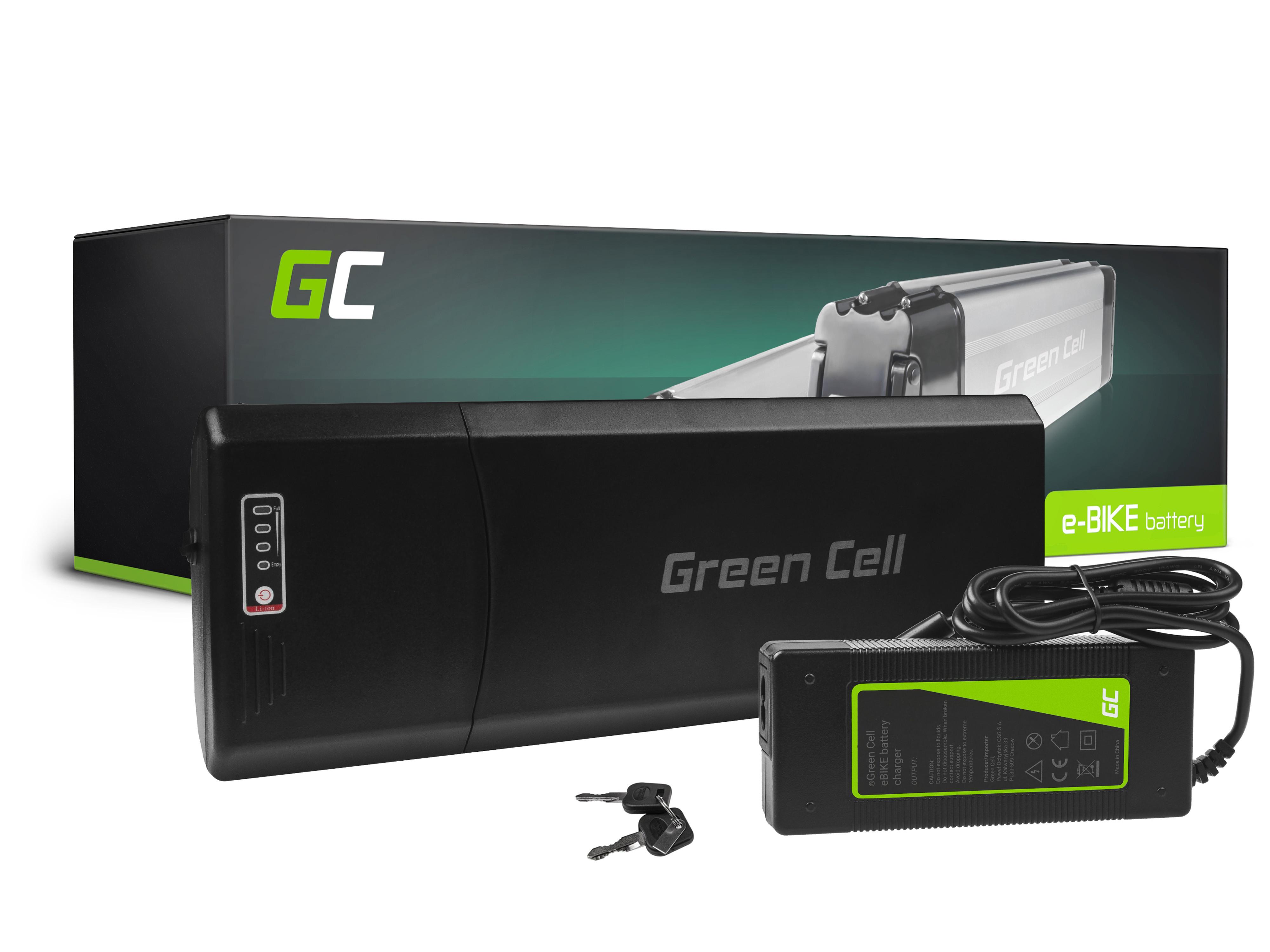 Batteri 36V 12Ah 432Wh bakre rack för E-Bike Pedelec