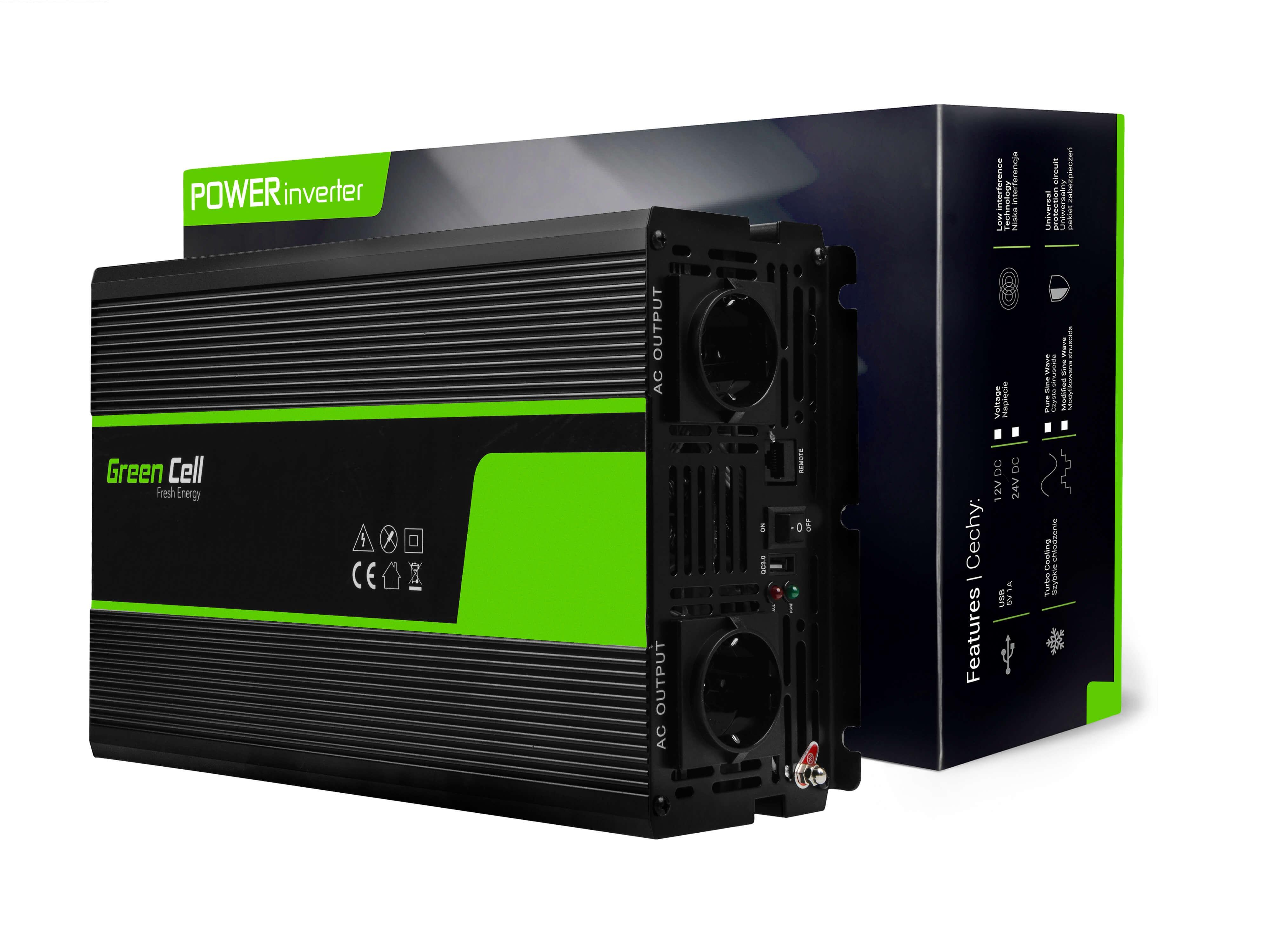 Green Cell Inverter 12V till 230V 1500W/3000W