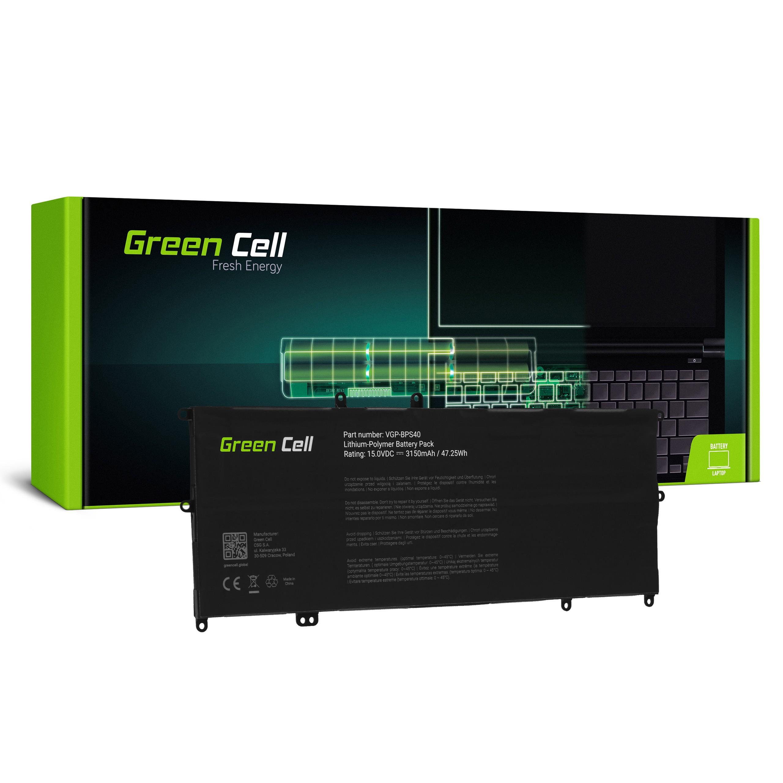 Batteri VGP-BPS40 för Sony Vaio Fit Multi-Flip 14A SVF14N SVF14N2J2ES 15A SVF15N SVF15N190X SVF15N2S2ES SVF15N2Z2EB