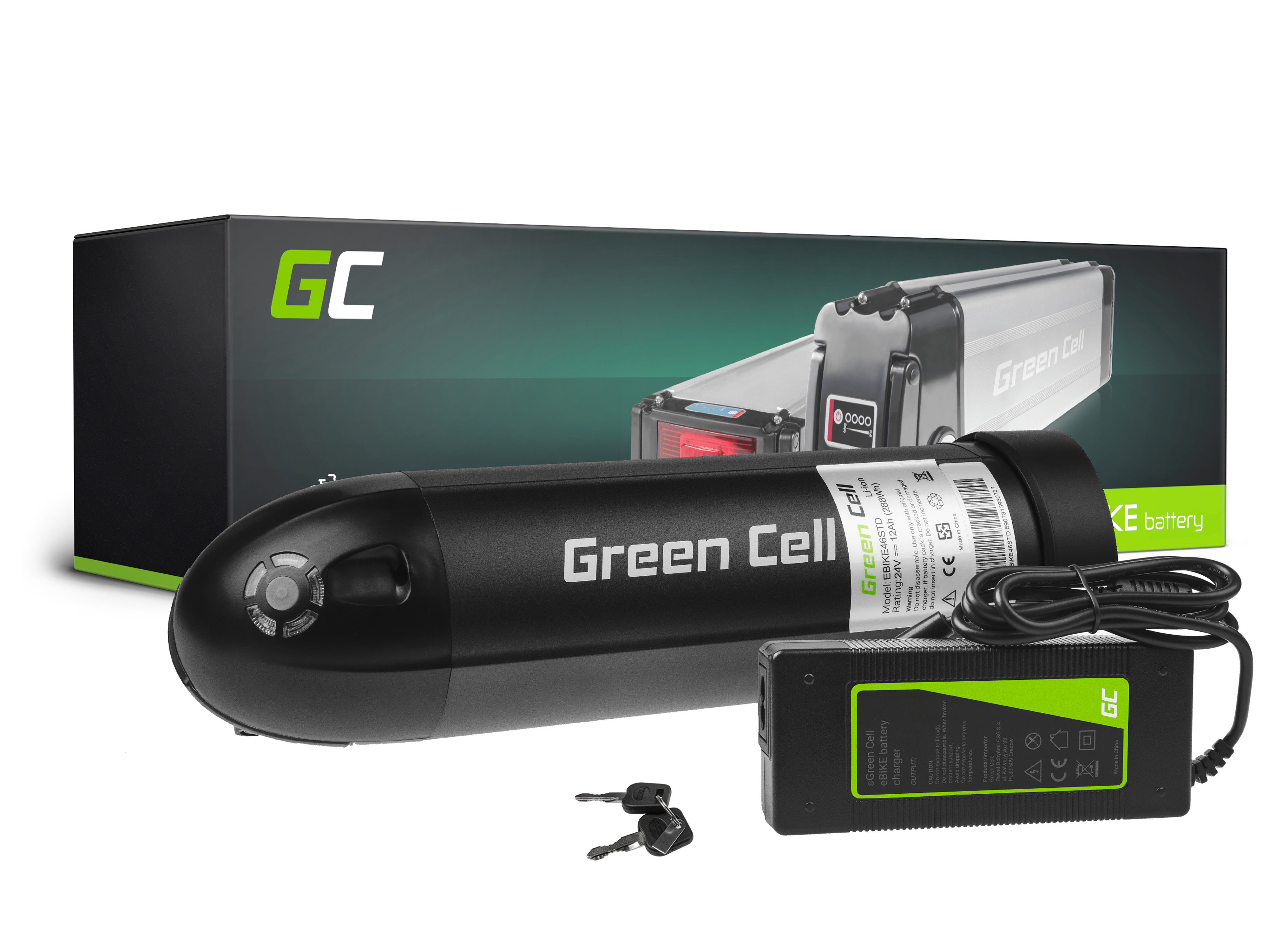 Batteri 24V 12Ah 288Wh flaska för E-Bike Pedelec