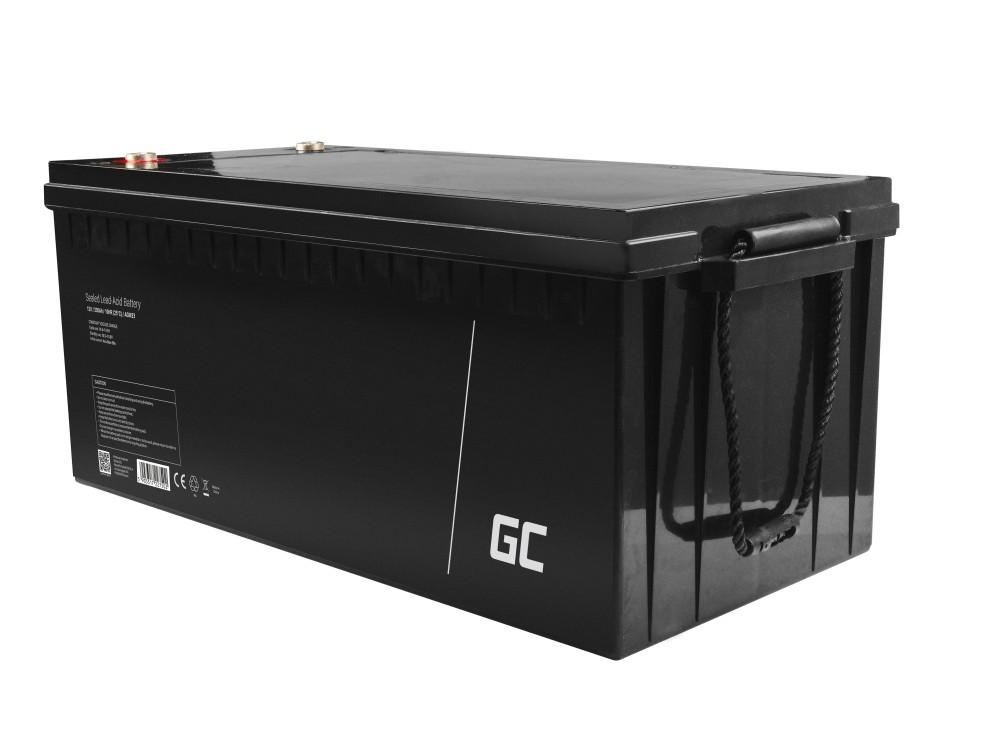 AGM Batteri Blysyra 12V 200Ah Underhåll Gratis för underhåll Gratis för elmotor och jolle