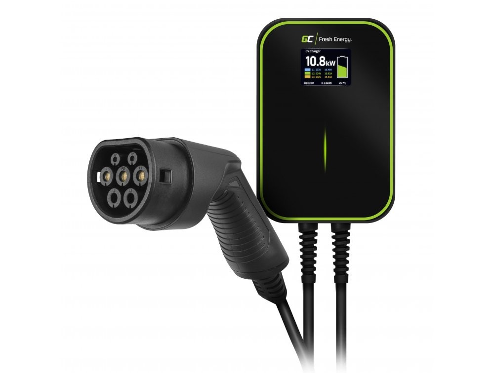 Wallbox GC EV PowerBox 22kW laddare med Typ 2-kabel för laddning av elbilar och Plug-In hybrider