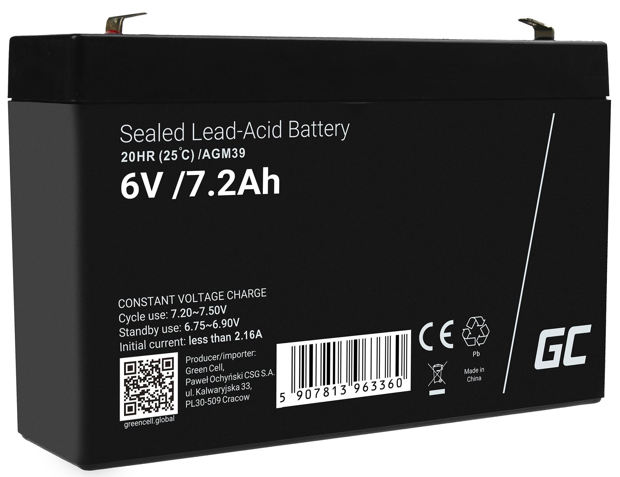 Batteri AGM VRLA 6V 7.2Ah