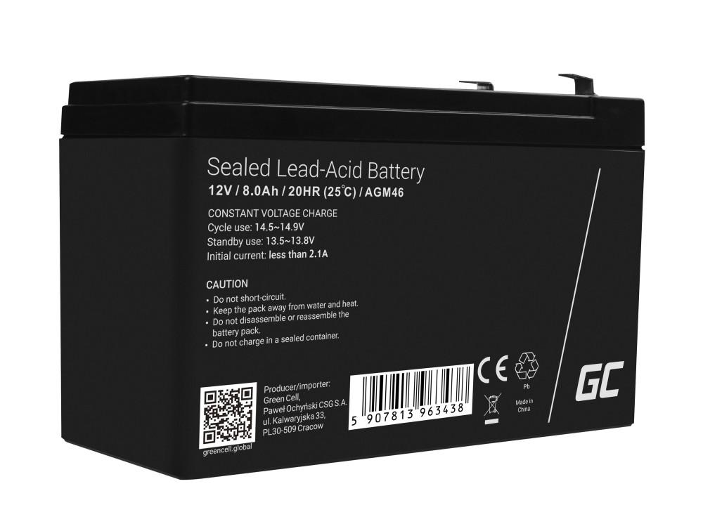 AGM Batteri 12V 8Ah
