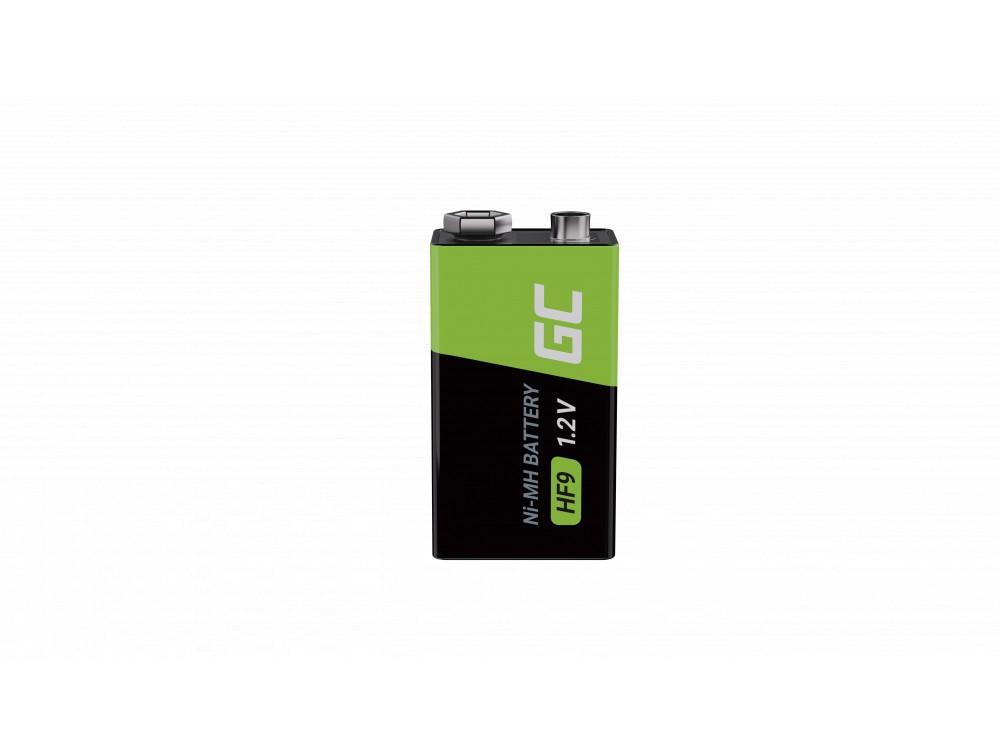 Batteri 4x 9V HF9 Ni-MH 250mAh Grön Cell