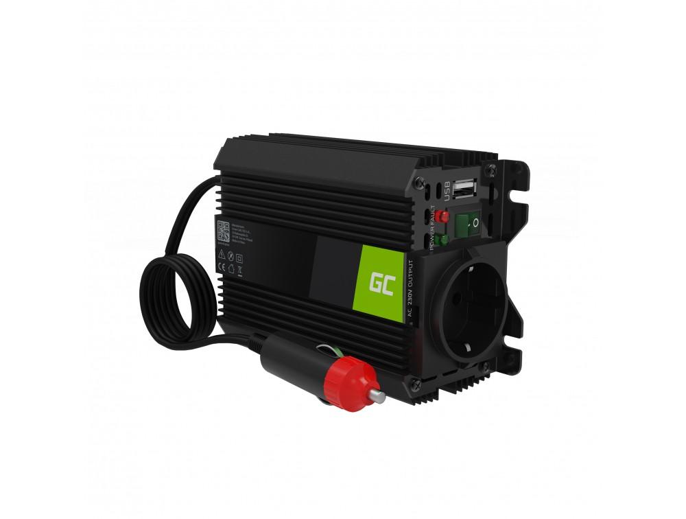 Green Cell Inverter 12V till 230V 150W/300W + USB