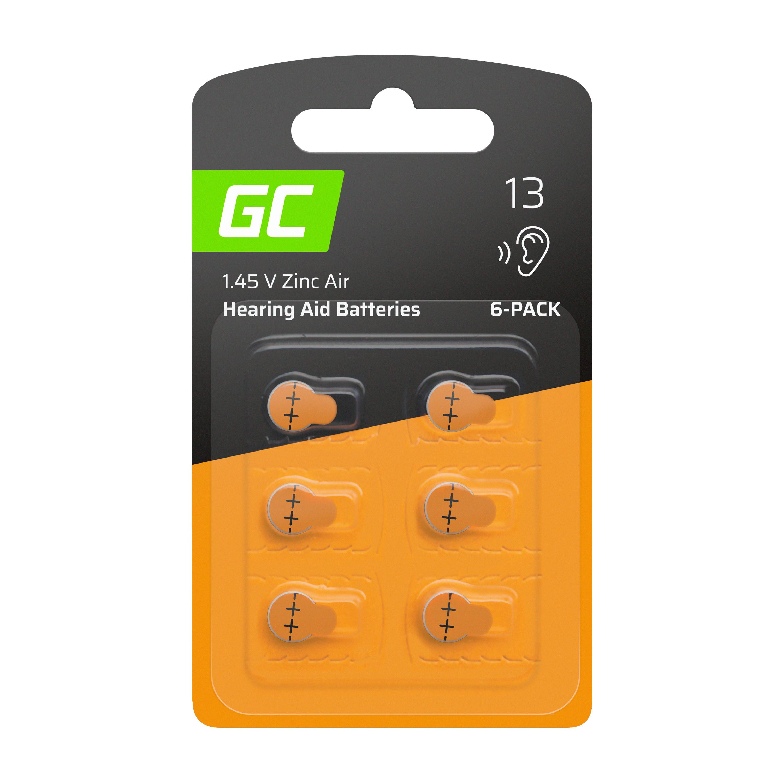 6x Batteri för hörapparat Typ 13 P13 PR48 ZL2 ZincAir