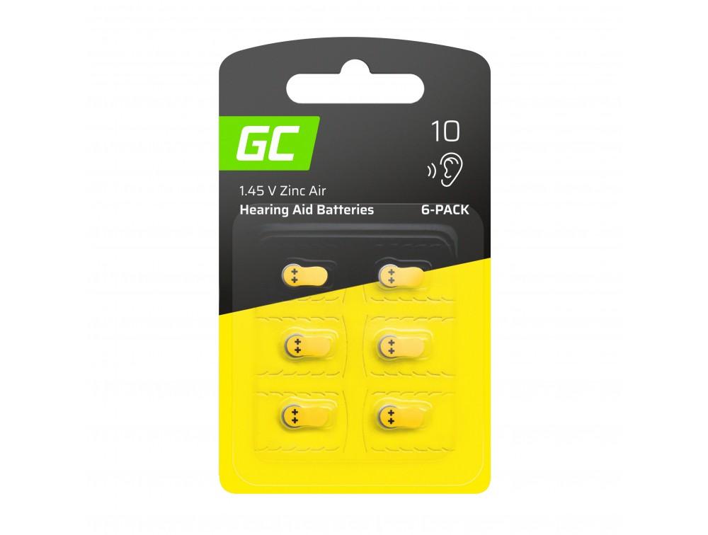 6x Batteri för hörapparat Typ 10 P10 PR70 ZL4 ZincAir