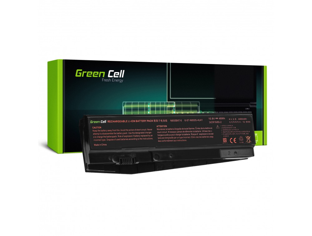 Batteri N850BAT-6 för Clevo N850 N855 N857 N870 N871 N875, Hyperbook N85 N85S N87 N87S
