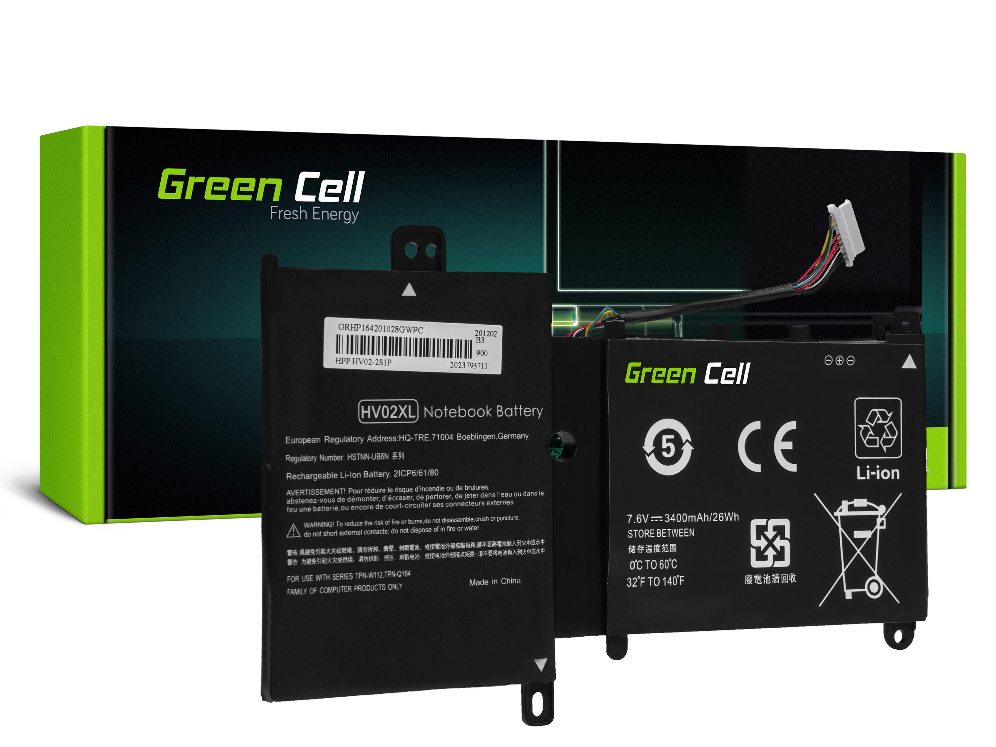 Battery HV02XL for HP 11-F HP Pavilion x360 310 G2 11-K HP Spectre 13-4000