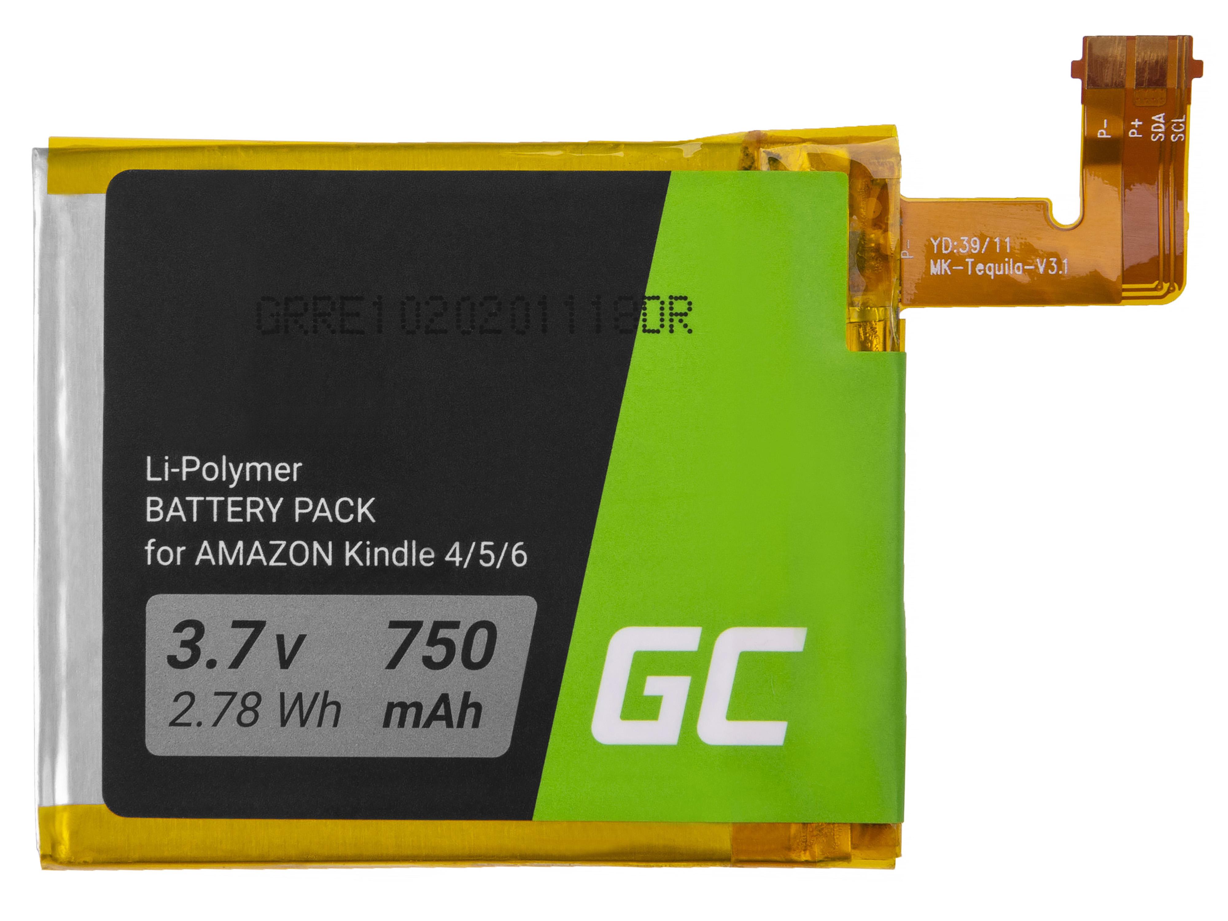 Green cell battery Amazon Kindle 4 / 5 / 6, 750 mAh