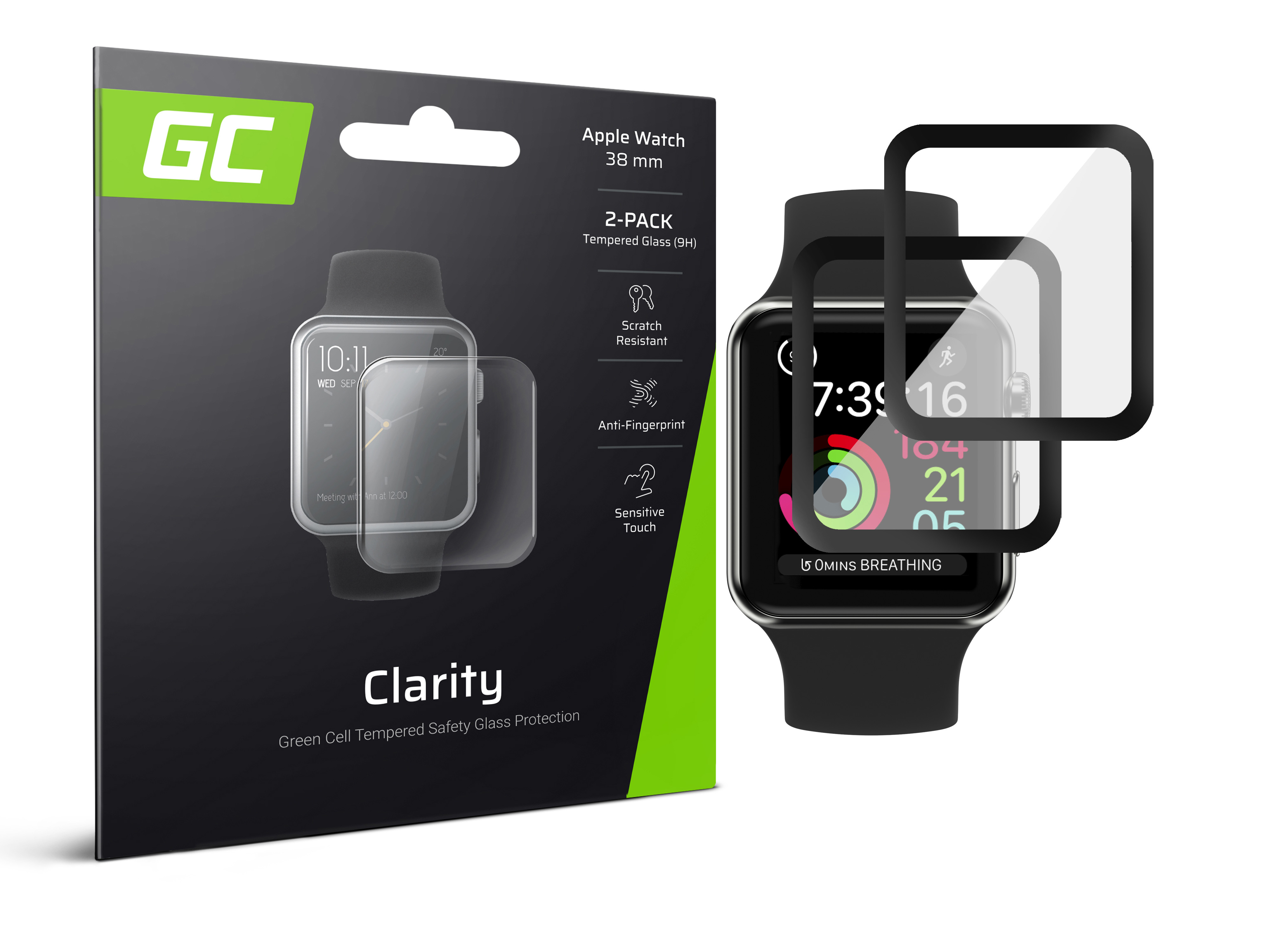 2x GC Clarity Screen Protector for Apple Watch 3 38mm