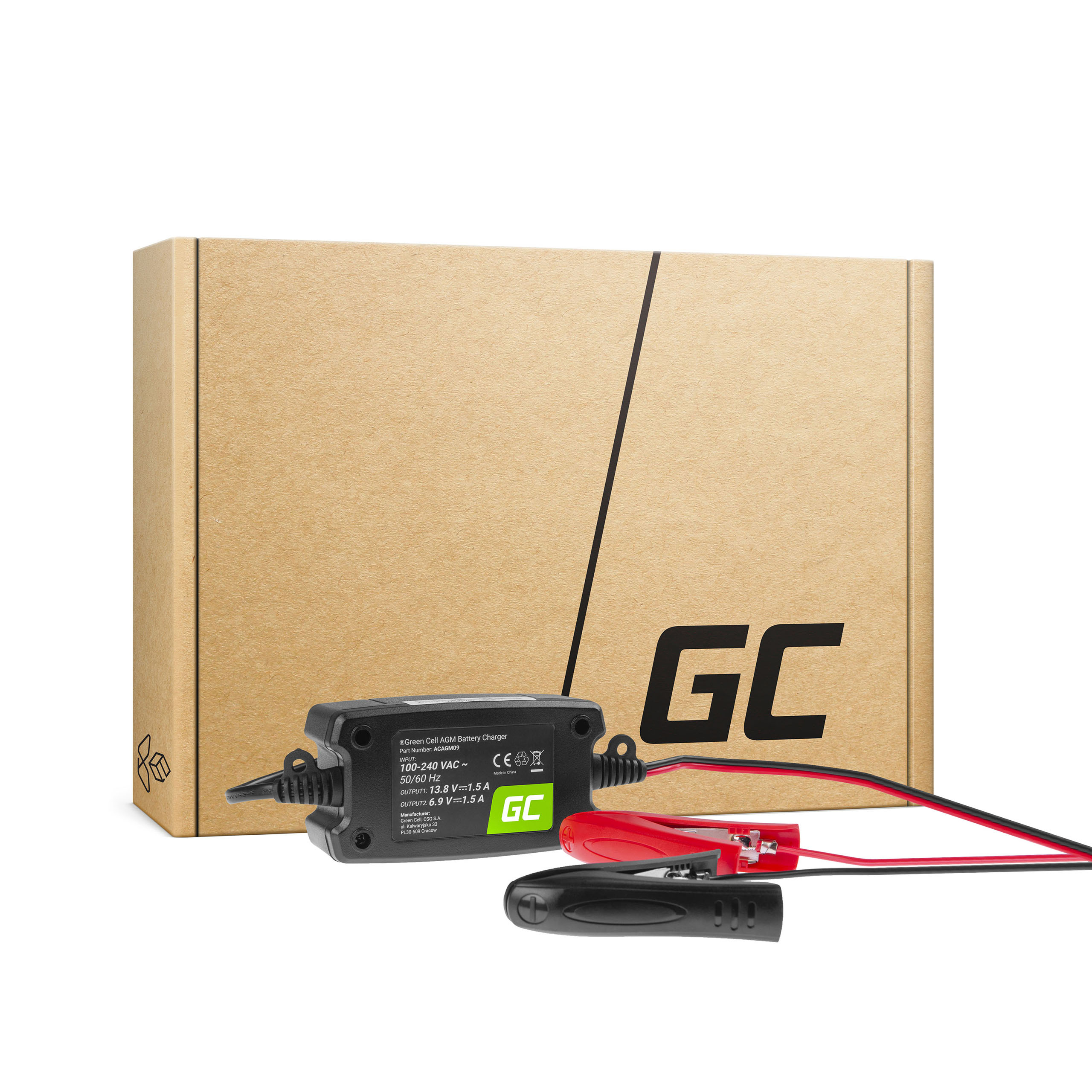 Ładowarka, prostownik do akumulatorów  6V / 12V (1.5A)
