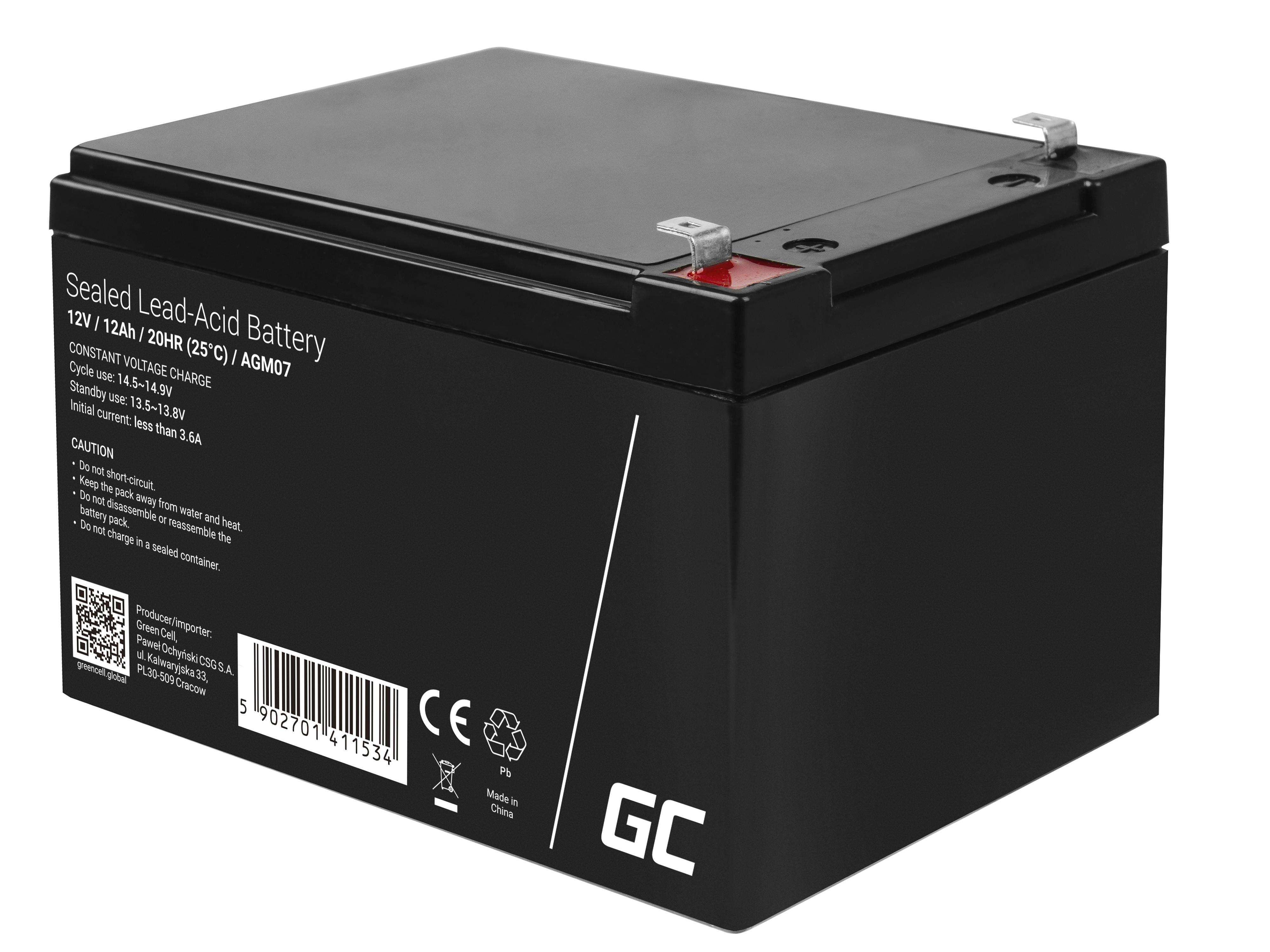 Green Cell agm batteri 12V 12Ah