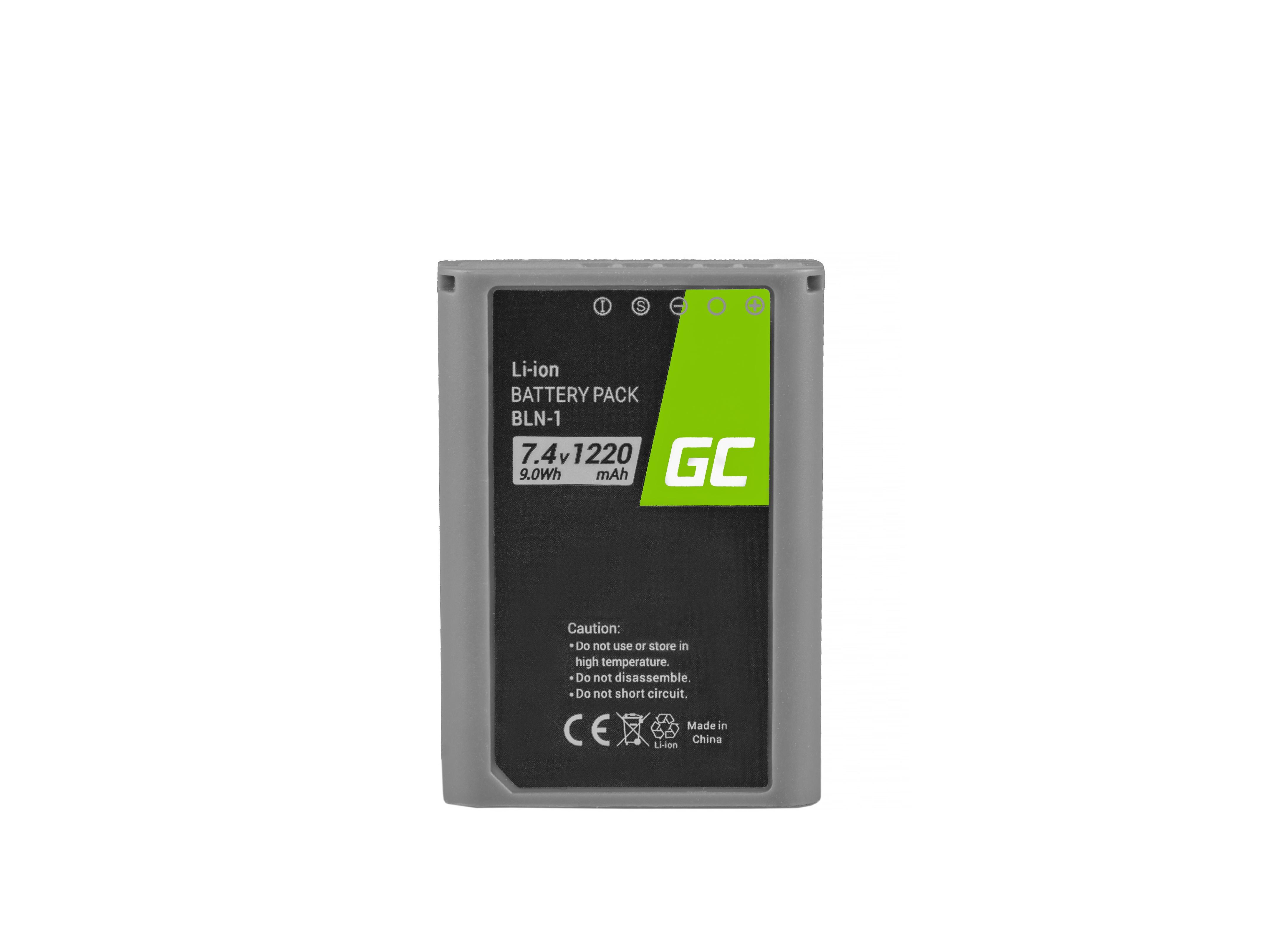 Battery BLN-1/BCN-1 and Charger BCN-1  for Olympus PEN-F, OM-D EM1, EM5, OM-D E-M5 Mark II 7.4V 1020mAh