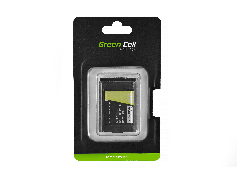 Green Cell Digital Kamera Batteri för Panasonic Lumix DMC-FT5 DMC-TS5 DMC-TZ40 DMC-TZ60 DMC-ZS30 DMC-ZS40 DMC-ZS50 3.7V 1050mAh