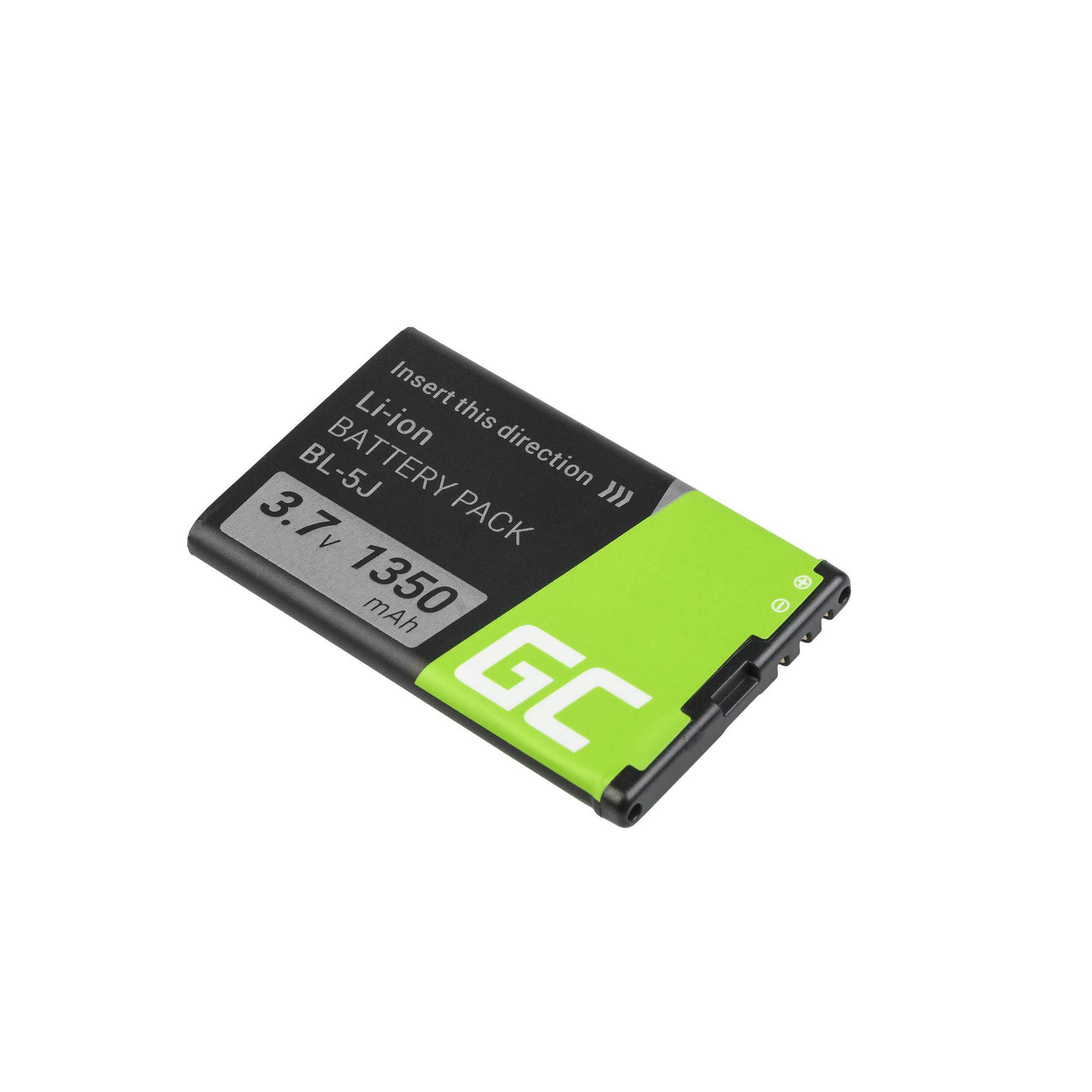 Green Cell Smartphone Batteri för BL-5J BL5J för Nokia Lumia 520 525 530 ASHA 200 201