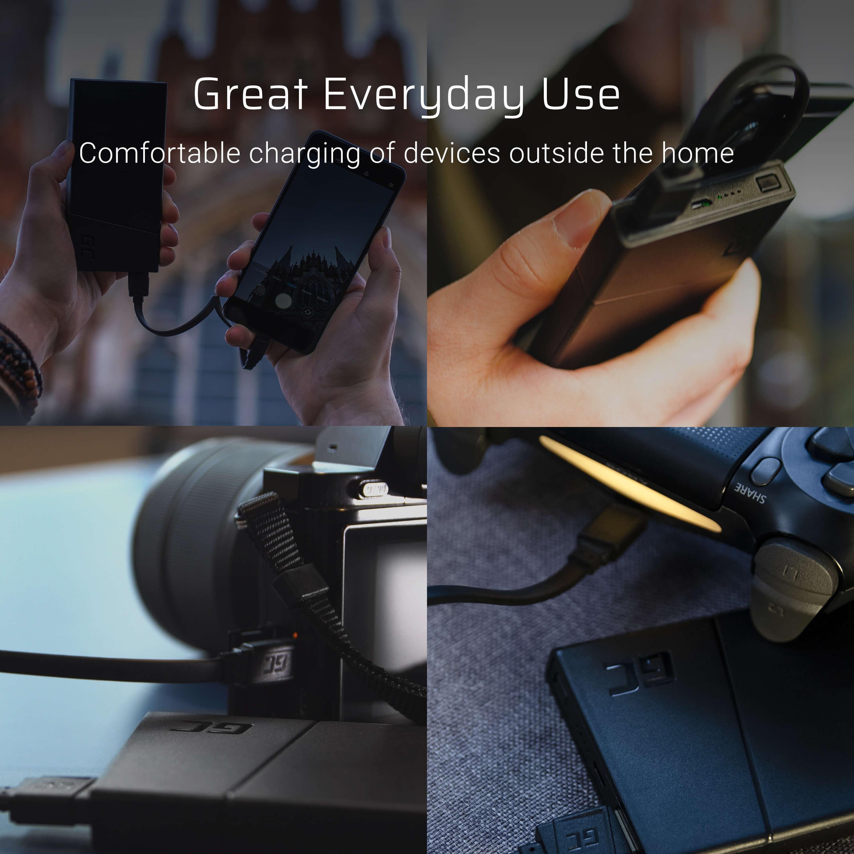 GCmatte Micro USB-kabel Platt 25 cm med snabbladdningsstöd