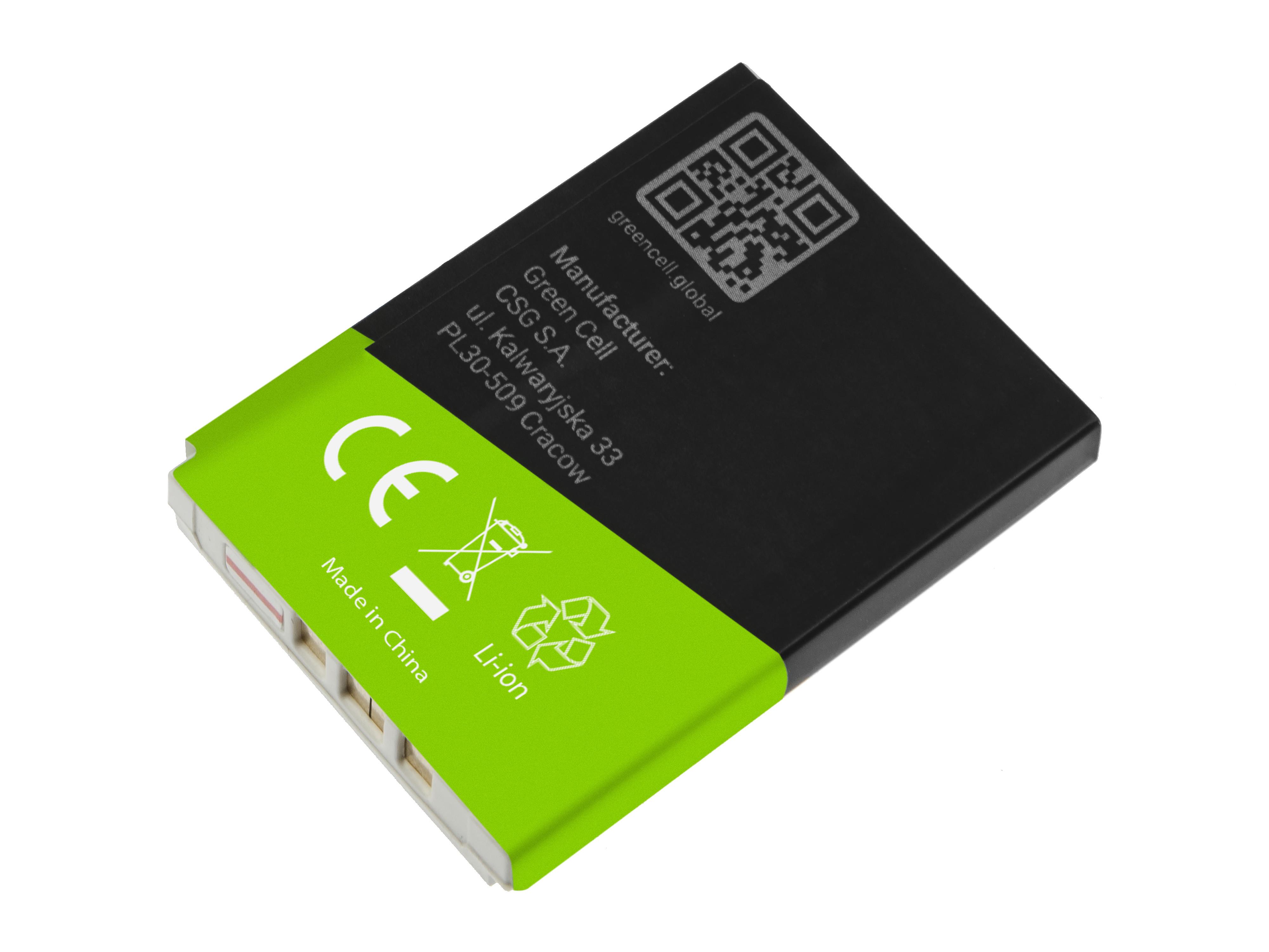 Grönt mobiltelefonbatteri för Nokia 3310 3315 3330 3350 3410 3510 3510i 3520 5510 6650 6800 6810