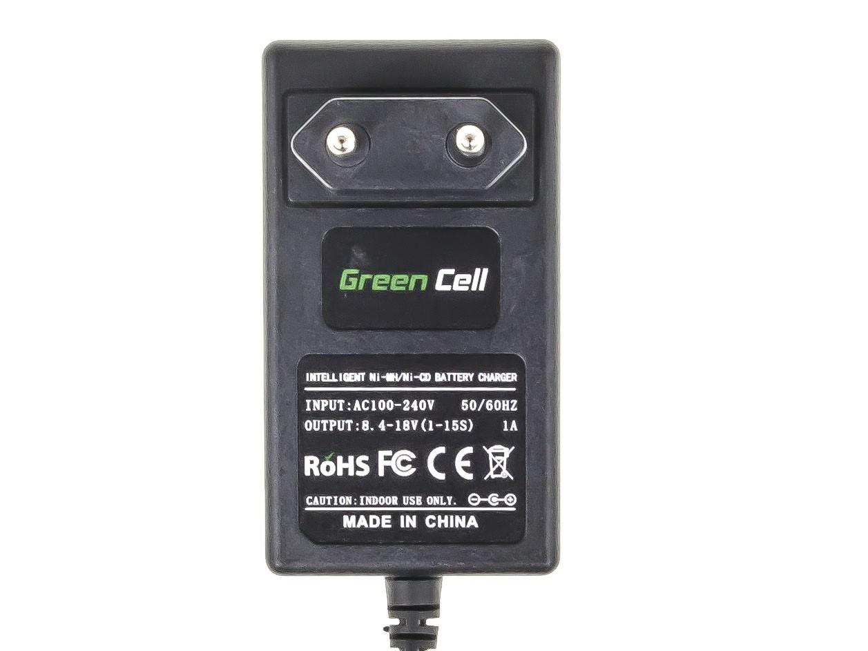 Green Cell batteriladdare för energiverktyg för Black&Decker 8.4V -18V Ni-MH Ni-Cd