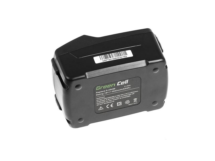 Batteri med elverktyg 6.25455 för Metabo 18V 3000mAh