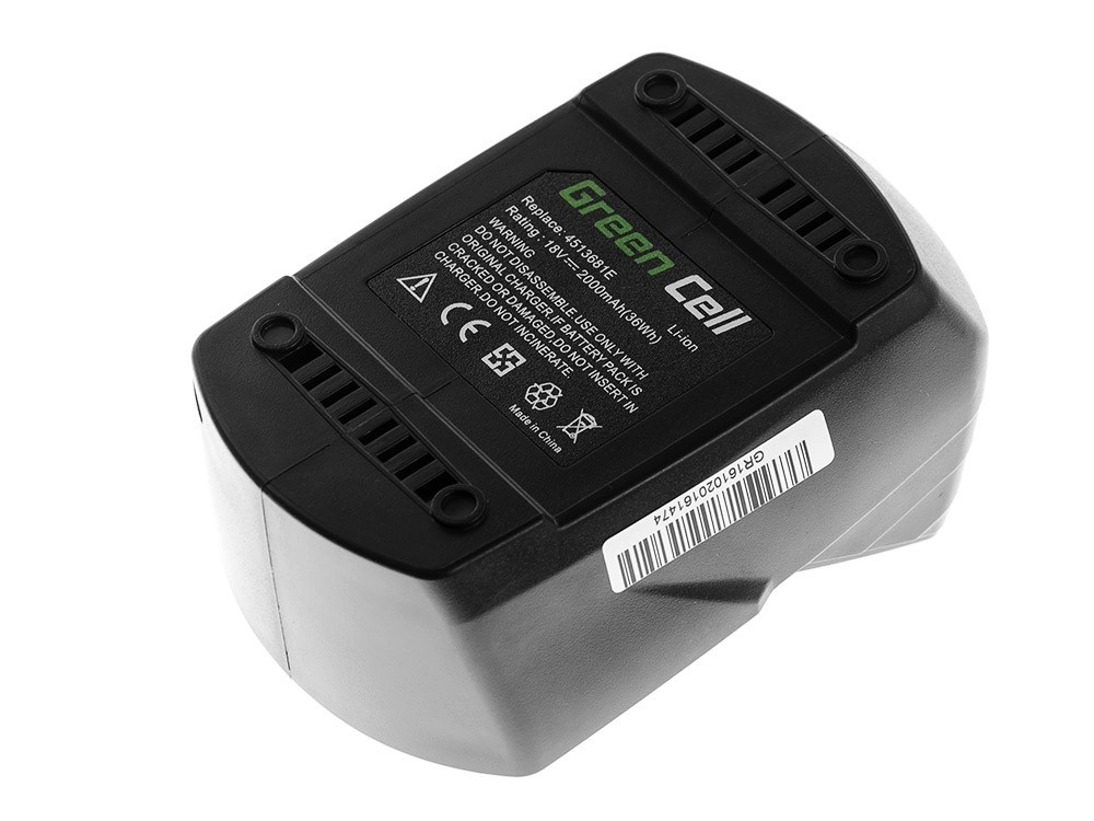 Green Cell batteri för elverktyg för Einhell TH-CD 18-2 2Ah 18V