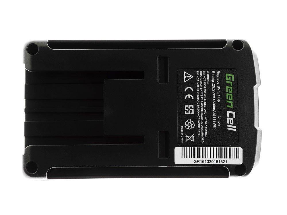 Green Cell dammsugare batteri för Karcher BV 5 / 1 Bp Karcher T 9 / 1 Bp 25,2 V 4.5Ah