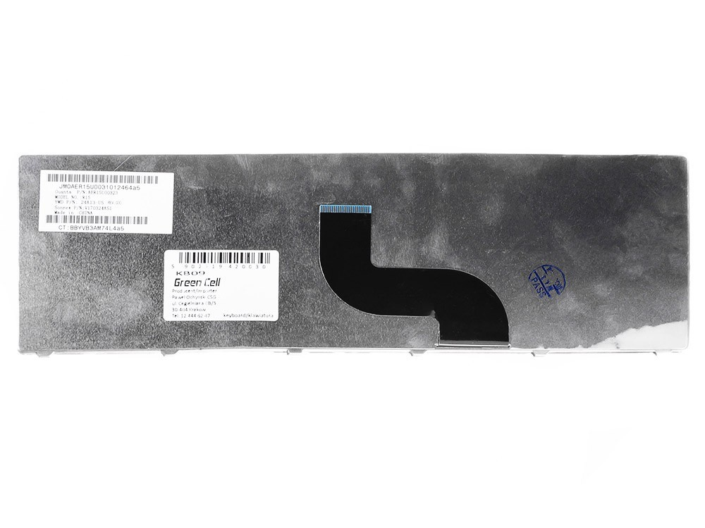 Green Cell tangentbord för laptop Acer Aspire 5338 5738 5741 5741G 5742