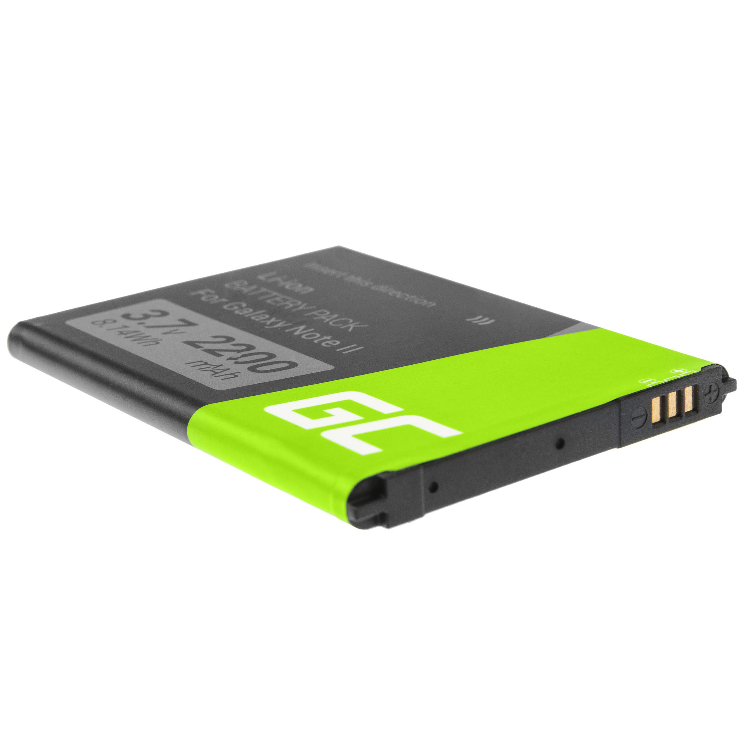 Batterier Green Cell für das Telefon Samsung Galaxy Note II N7100