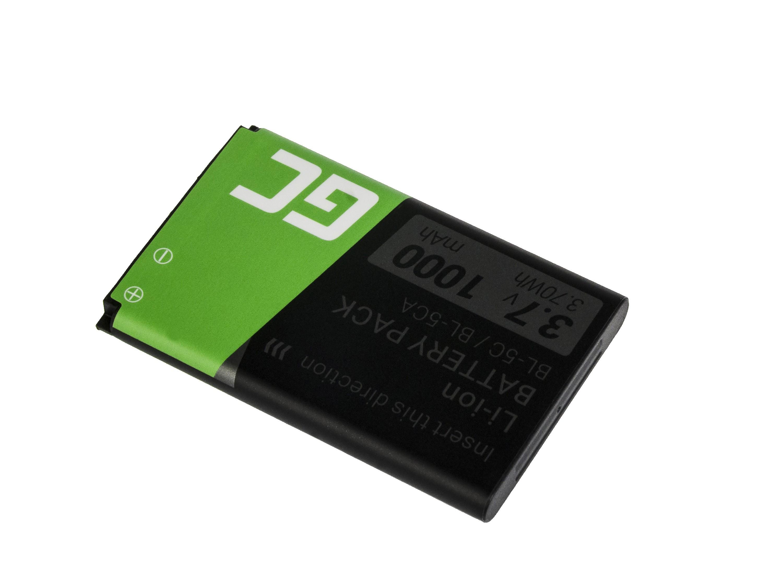Grön mobiltelefon Batteri BP-5C för Nokia 1200 1800 2600 3610 6600 E50 N91