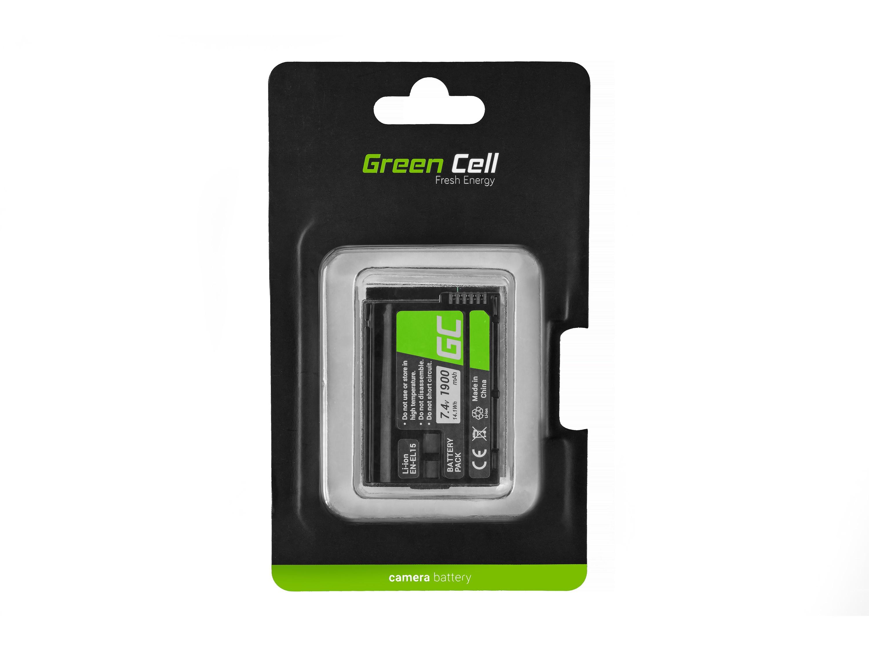 Green Cell kamera batteri för cell Nikon D600 D800 D7000 D8000 7.0V