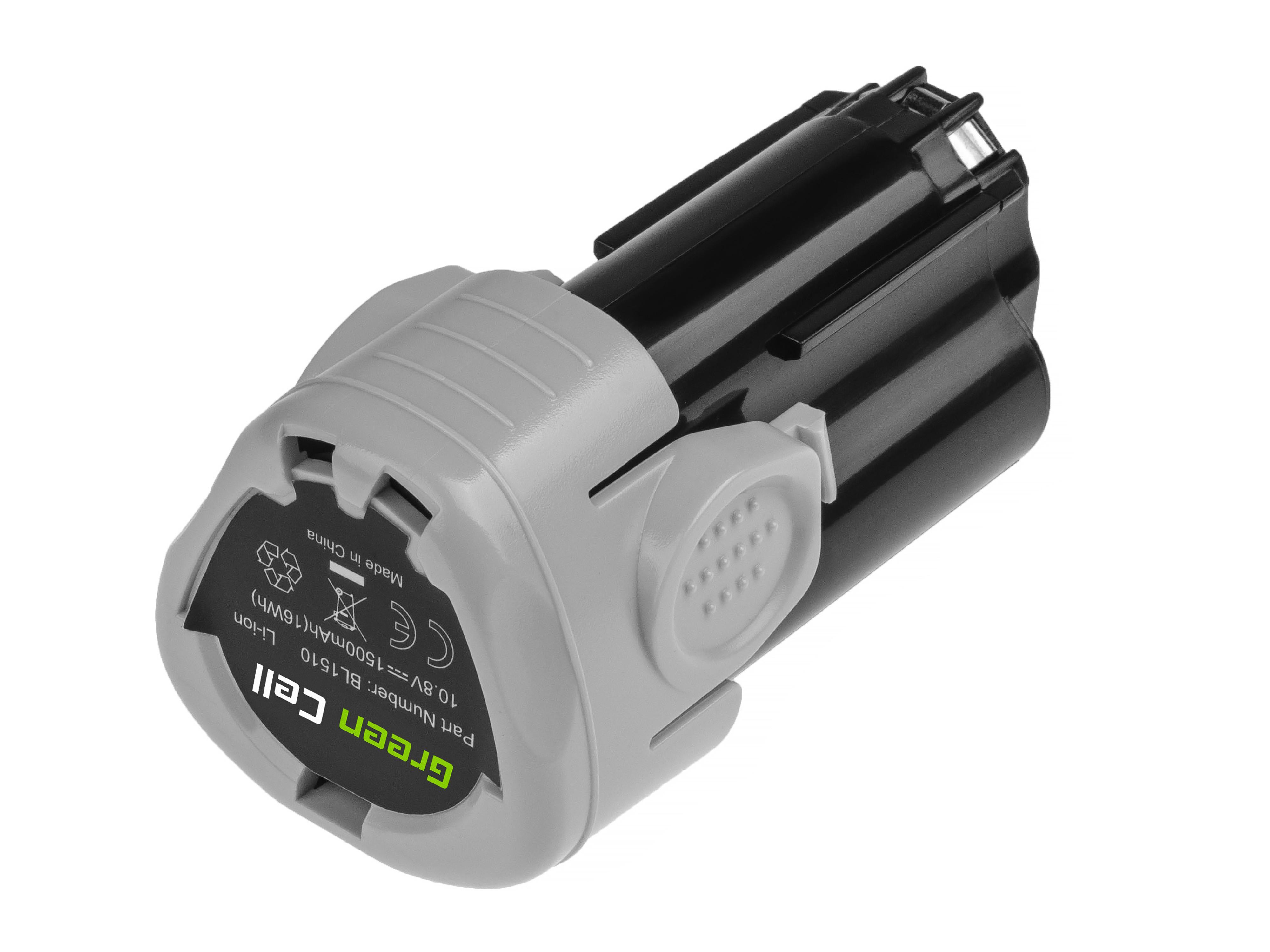 Green Cell elverktygsbatteri för Black&Decker BL1110 BL1310 BL1510 BDCDMT112 10.8V 1.5Ah