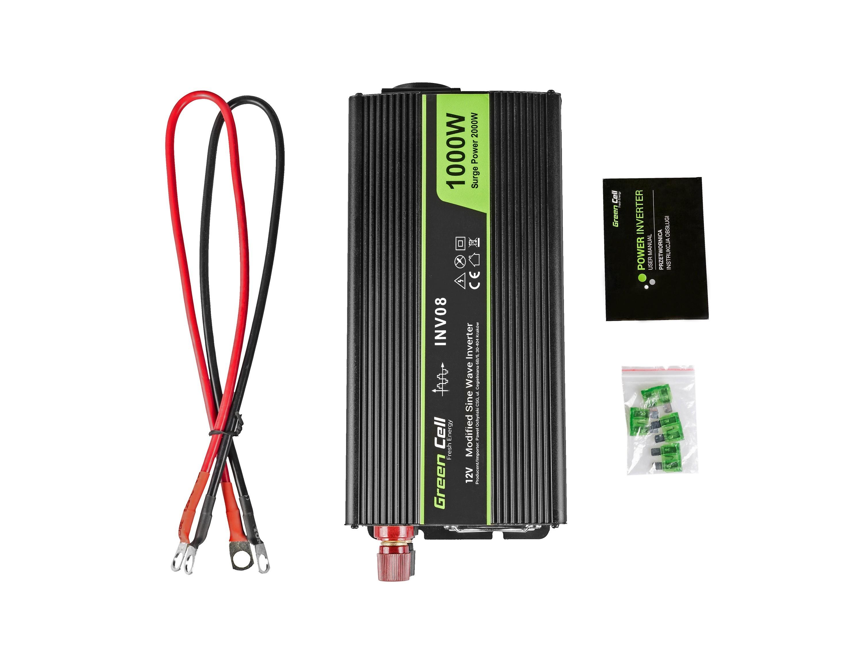 Green Cell Inverter 12V till 230V 1000w/2000w