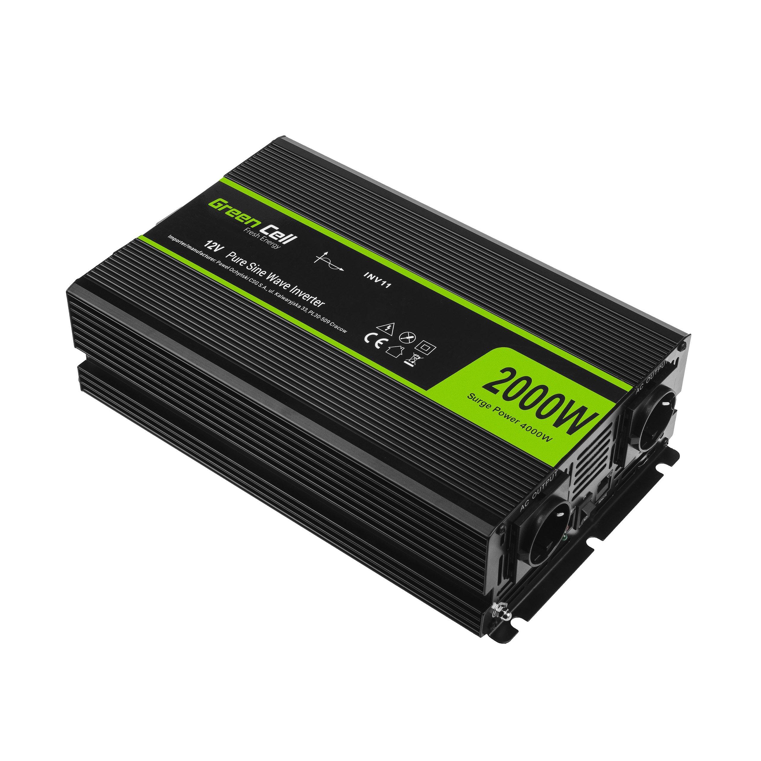 Green Cell Inverter 12V till 230V 2000W/4000W