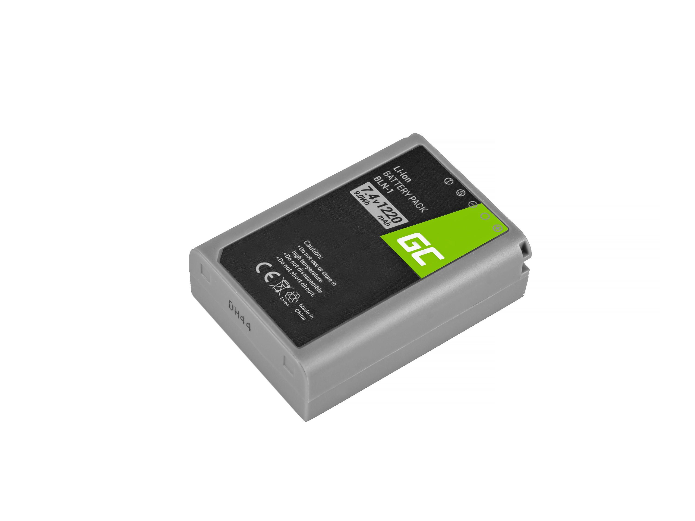 Green Cellbatteri BLN-1/BCN-1 Olympus PEN-F, OM-D EM1, EM5, OM-D E-M5 Mark II 7.4V 1020mAh