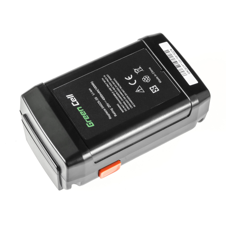 Green Cell verktygsbatteri för Gardena 8838 380 380EC 380LI 25V 4Ah Samsung