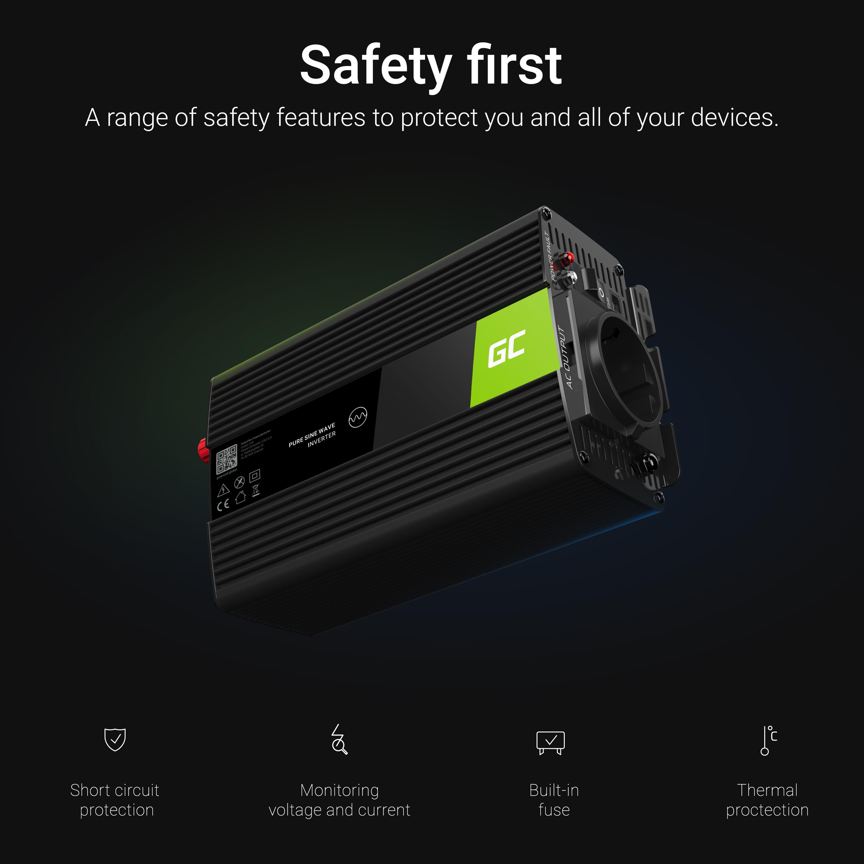 Green Cell Inverter 12V till 230V 150W/300W