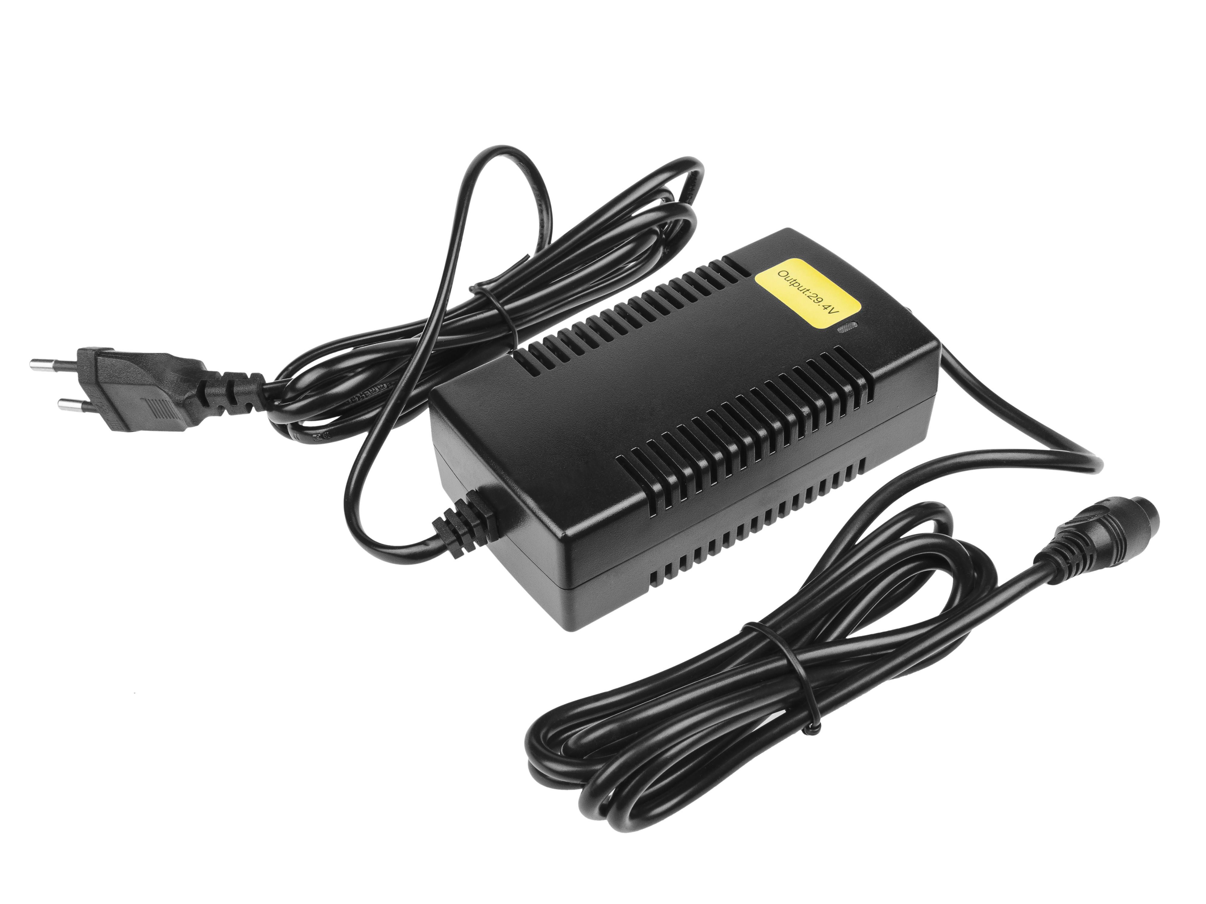 Green Cell Laddare 29.4V 2A (3 stift) för EBIKE-batterier 24V