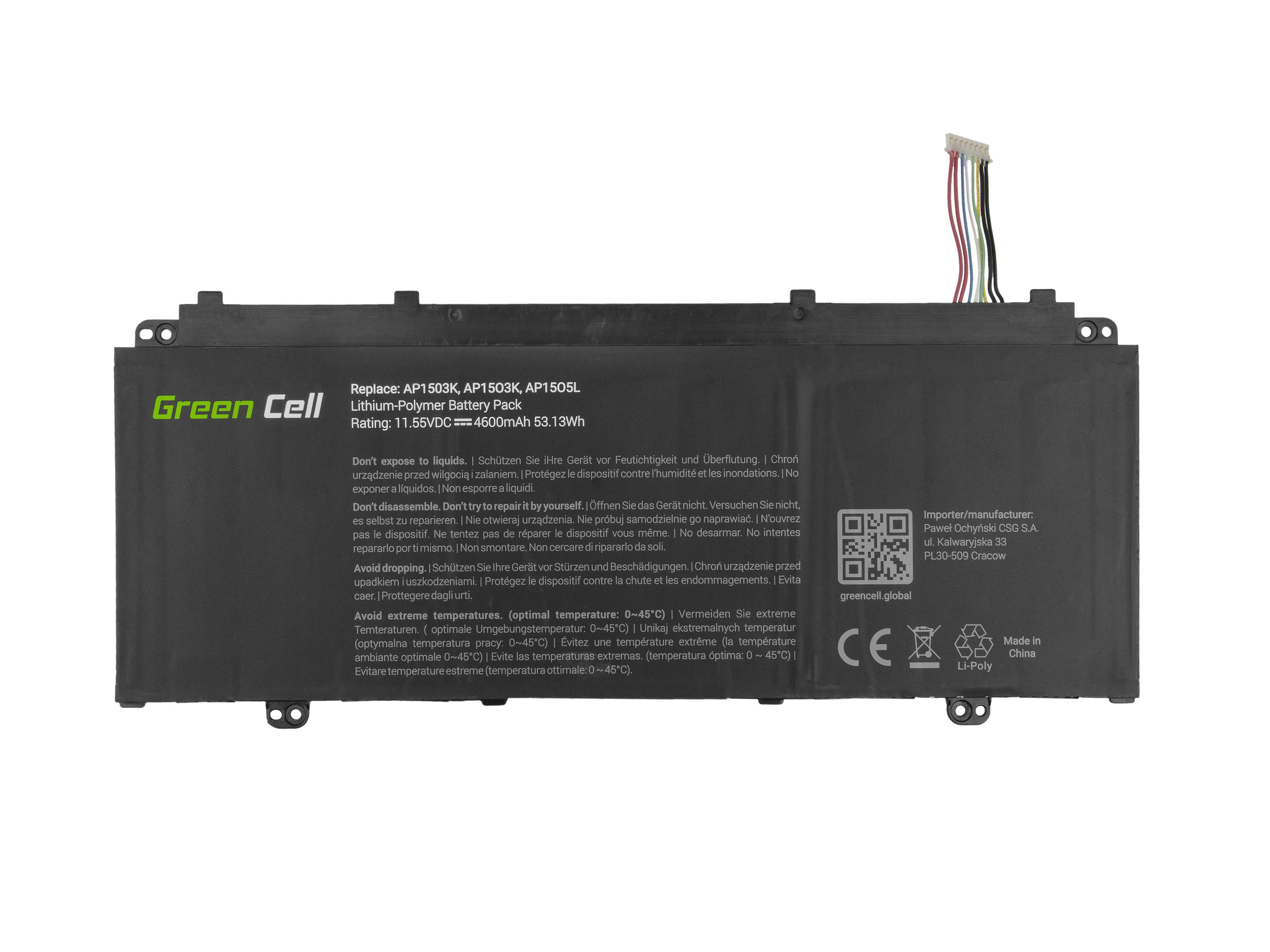 Acer Acer Aspire S 13 S5-371 S5-371T Chromebook R 13 CB5-312T / 11,1V 4600mAh