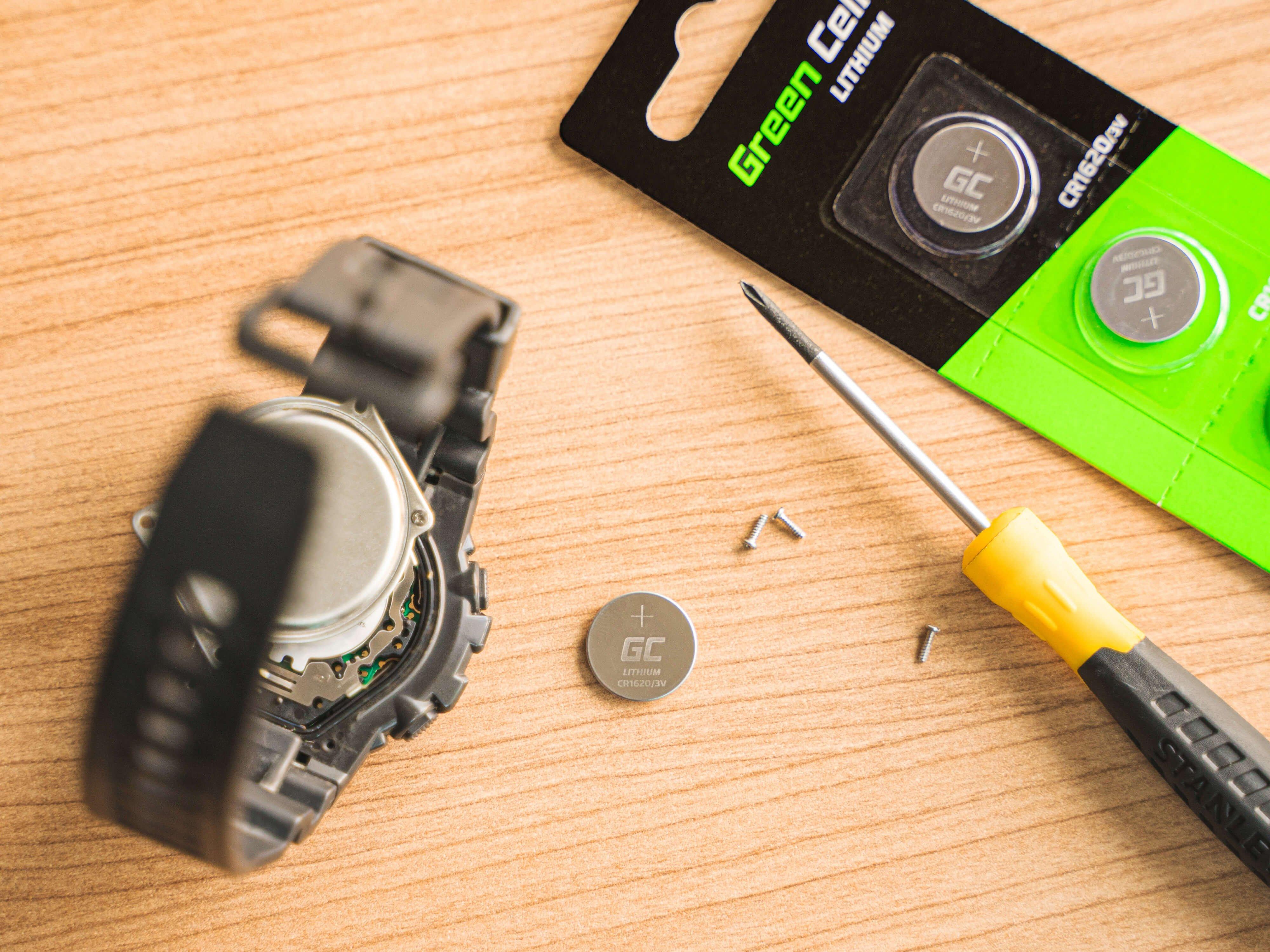 5x litium CR2032 3V 220mAh batterier