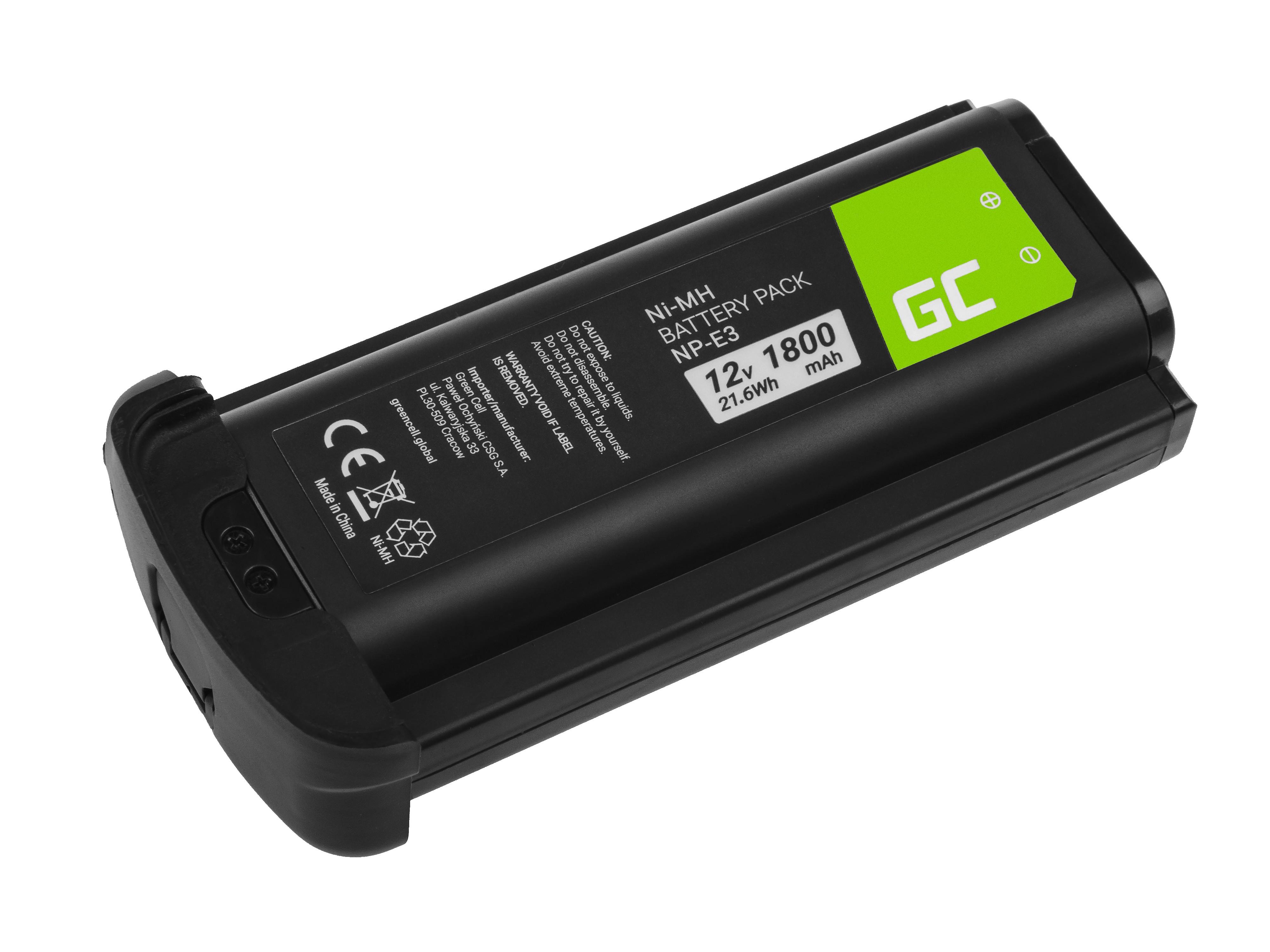 Batteri NP-E3 NPE3 do Canon EOS-1D Mark II, Canon EOS-1Ds Mark II 12V 1800mAh