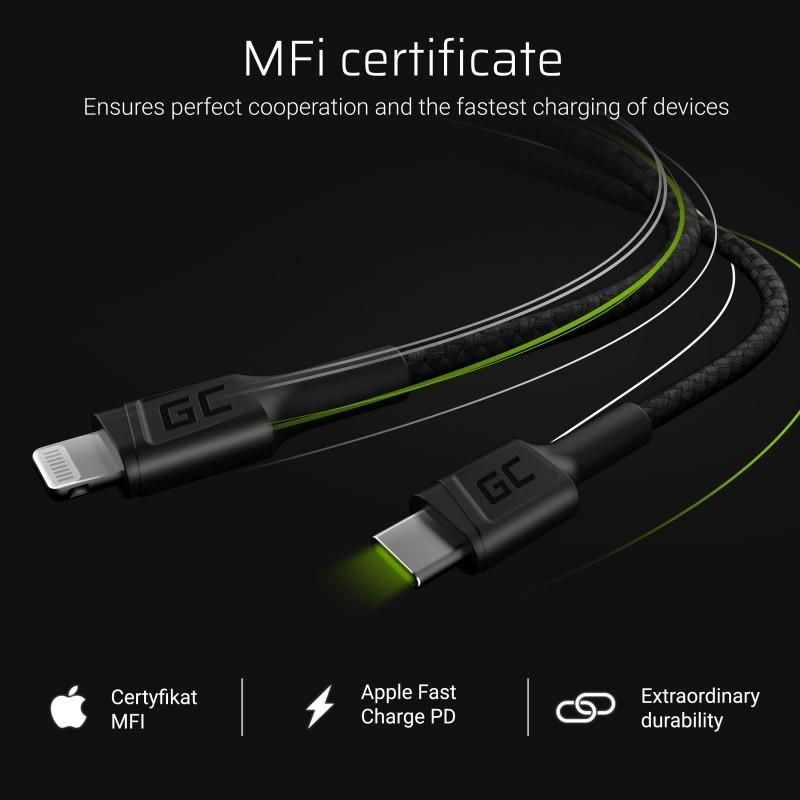 Kabel GC Power Stream USB-C - Lightning 100 cm med power delivery (Apple MFi-certifierad)
