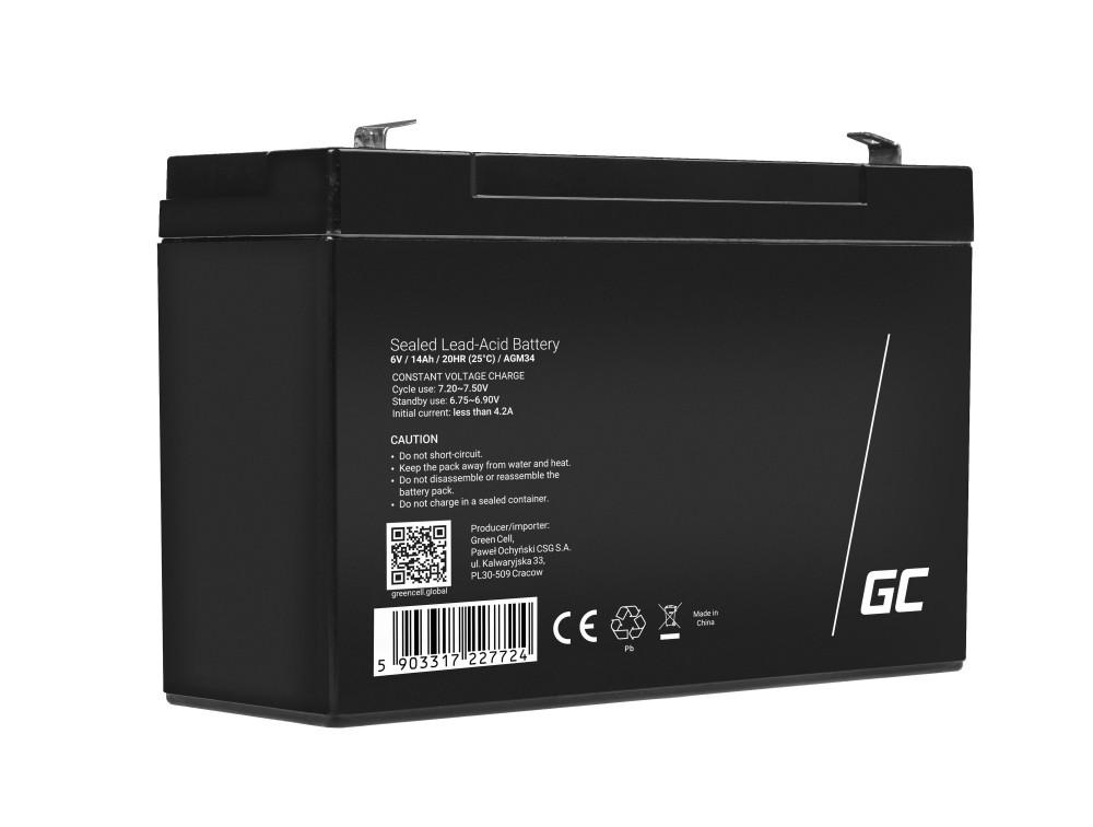 Batteri 6V 14Ah