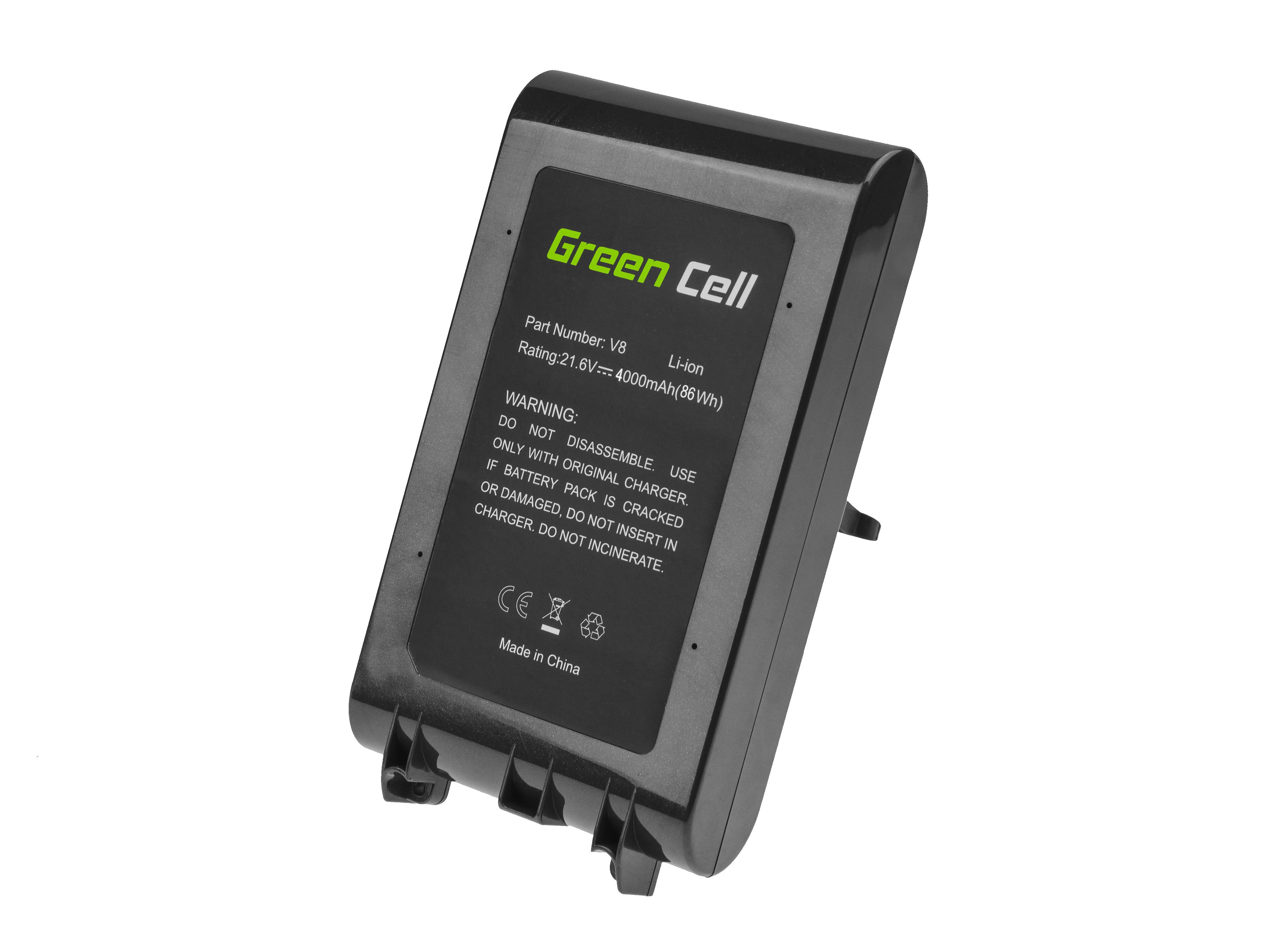 Green Cell Battery (4Ah 21.6V) 967834-02 967834-05 for Dyson V8 SV10 Absolute Pro Vacuum Animal Plus