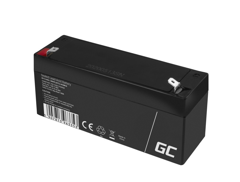 Batteri AGM VRLA 6V 3.4Ah